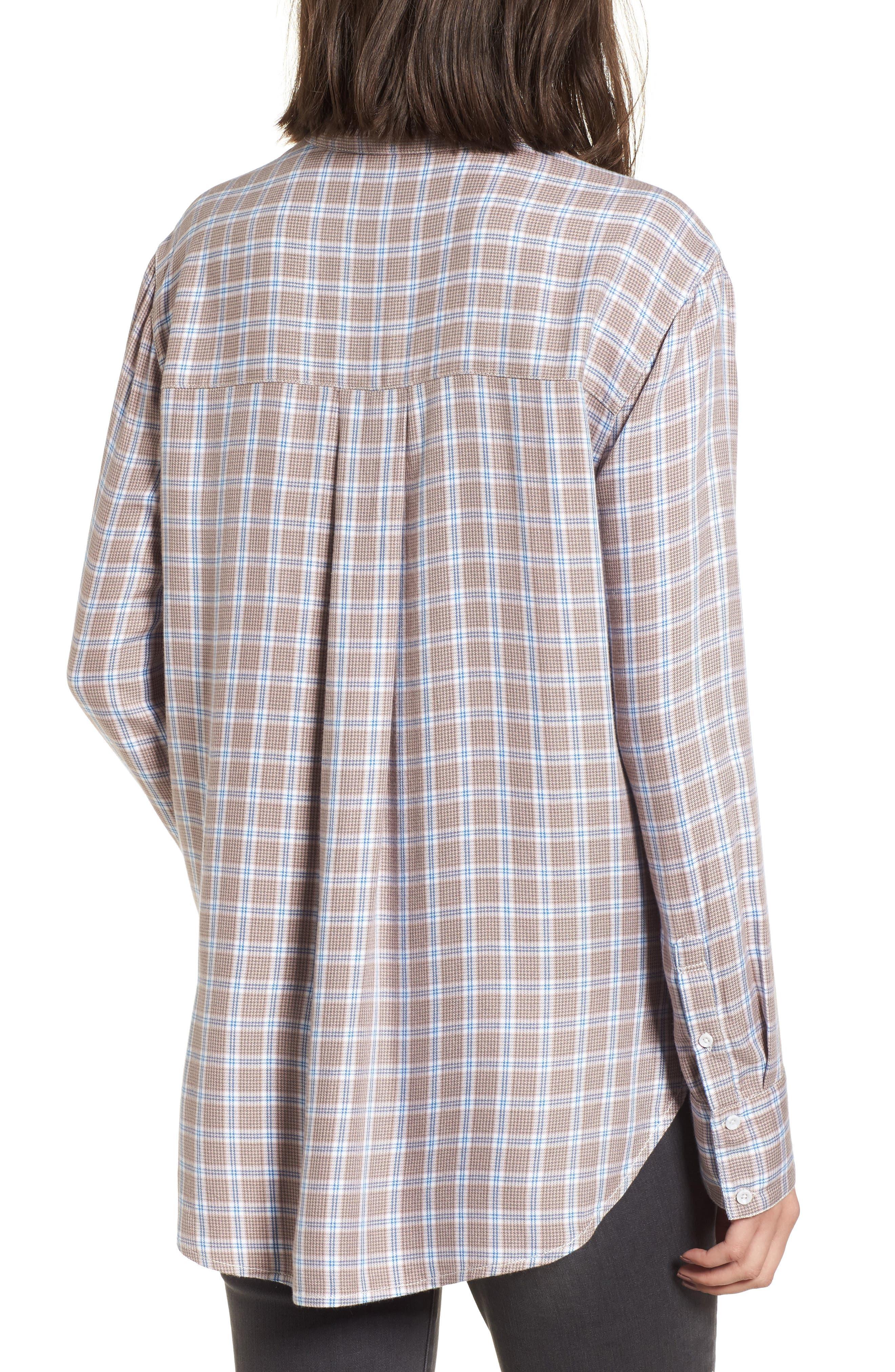 Plaid Boyfriend Shirt,                             Alternate thumbnail 10, color,