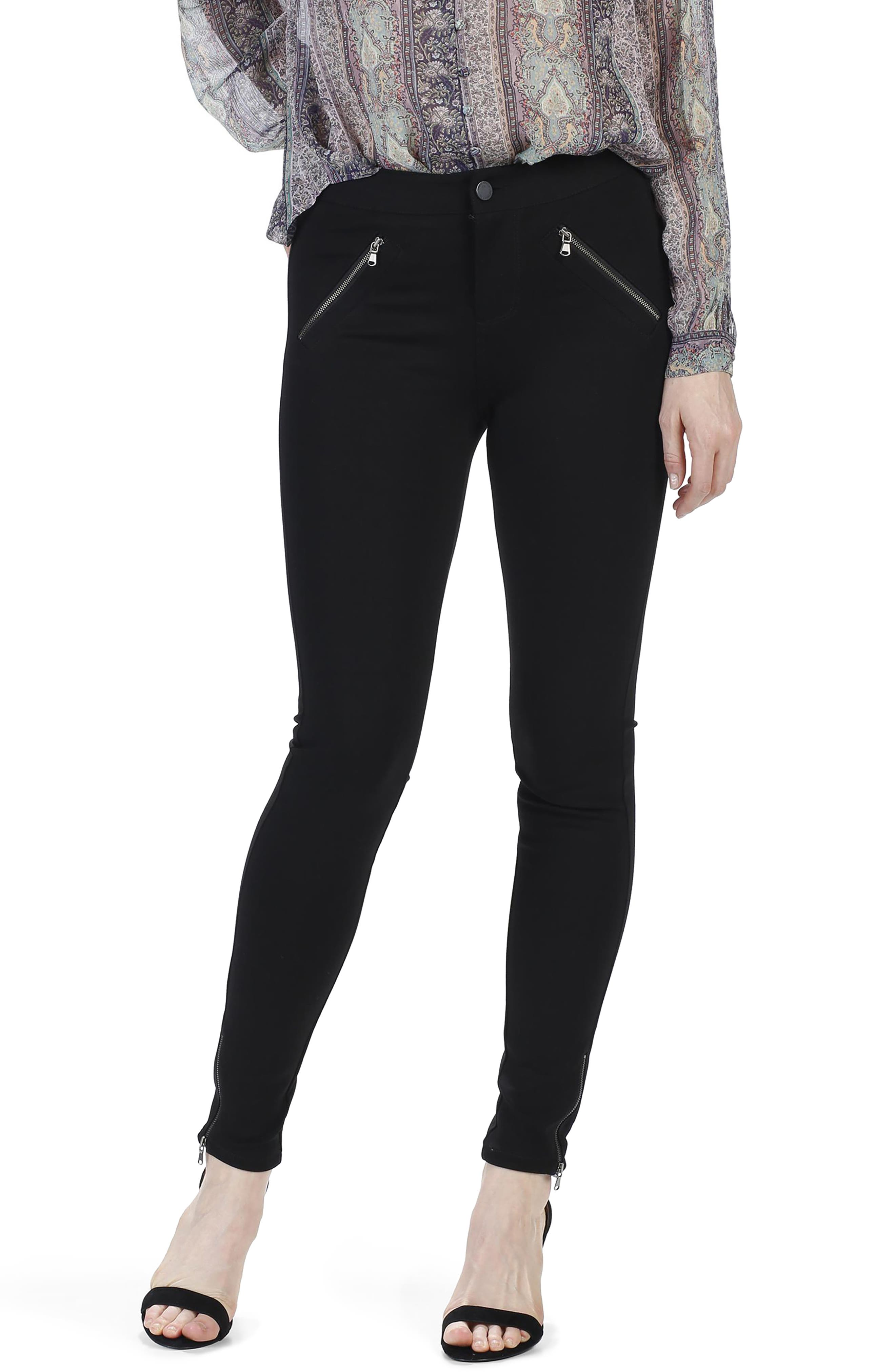 Simmons Ankle Skinny Ponte Pants,                             Alternate thumbnail 2, color,