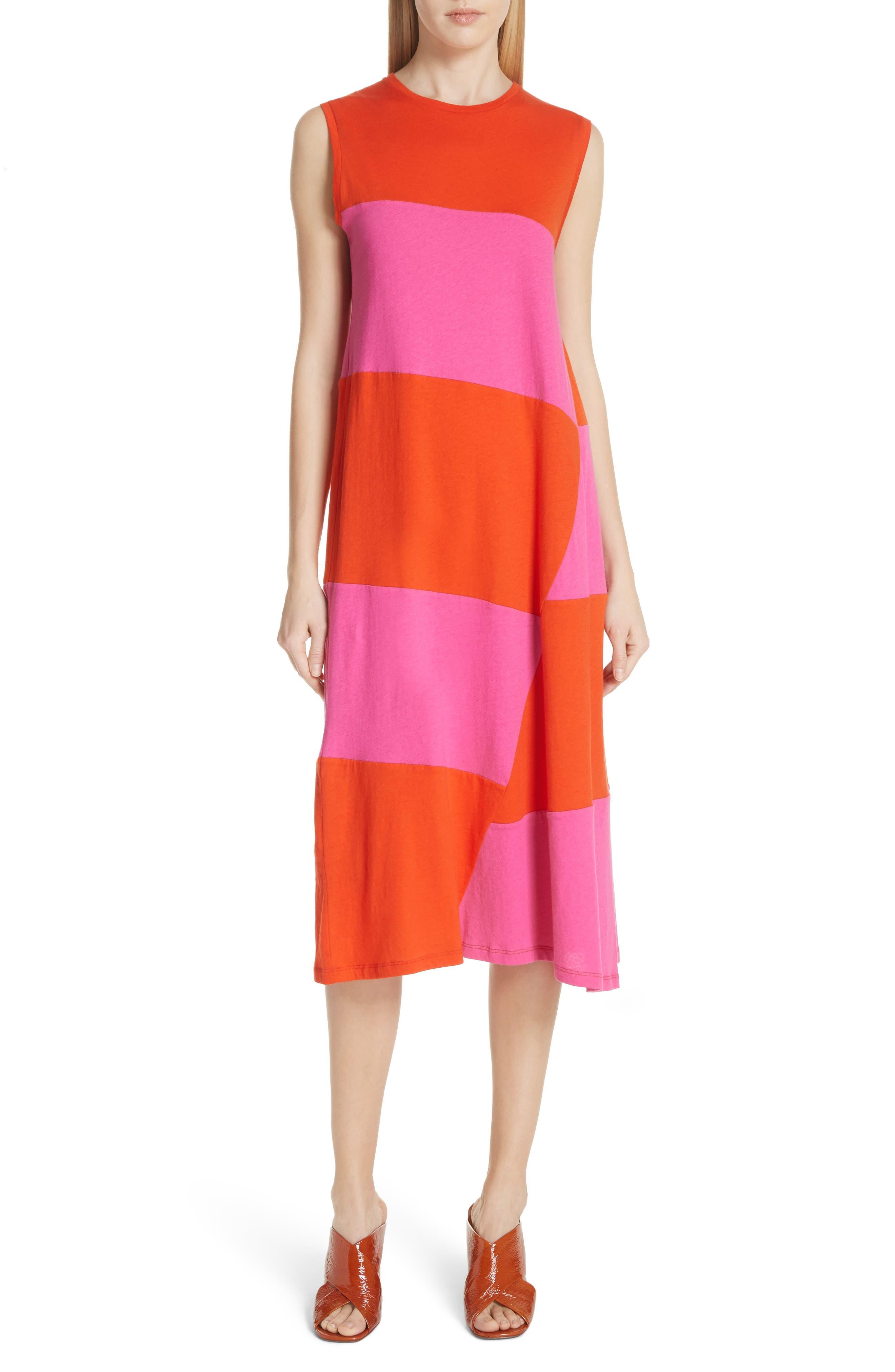 Dove Asymmetrical Stripe Dress,                             Main thumbnail 1, color,                             812