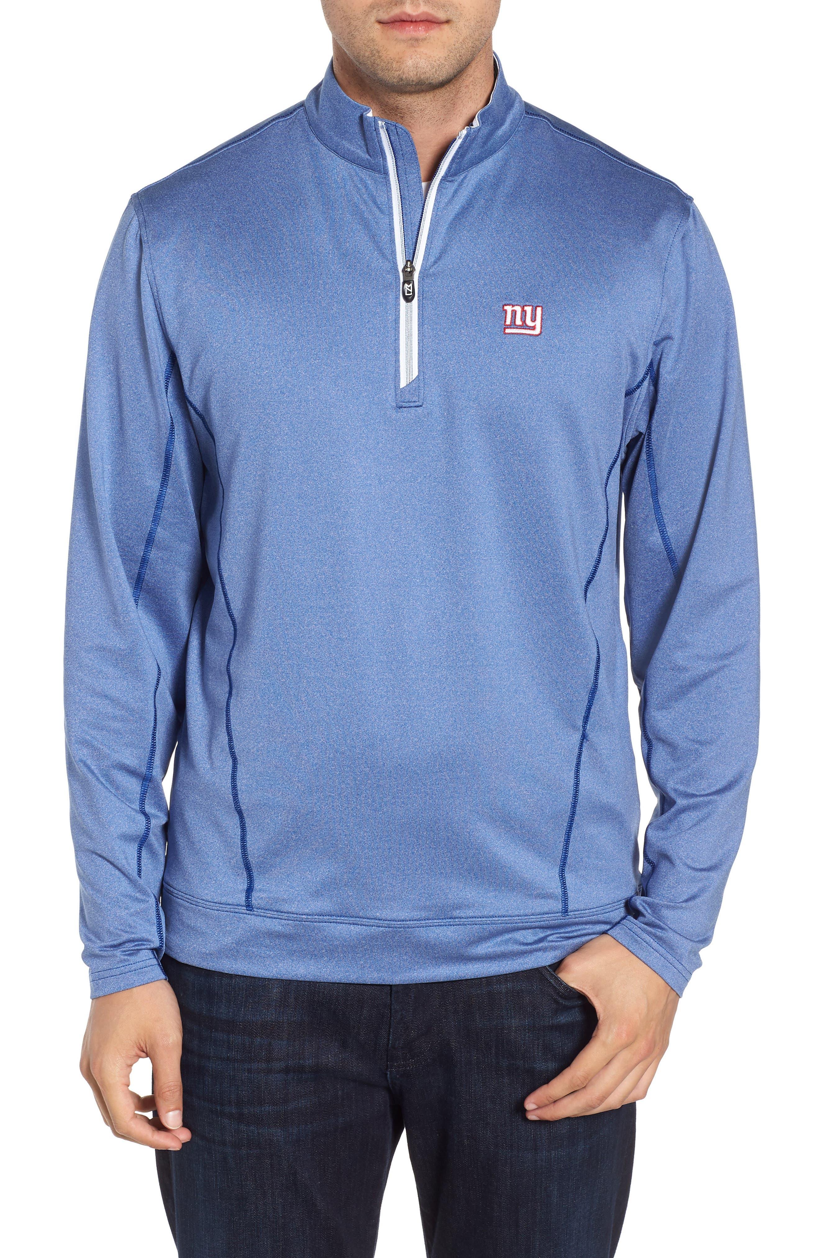 Endurance New York Giants Regular Fit Pullover,                             Main thumbnail 1, color,                             TOUR BLUE HEATHER