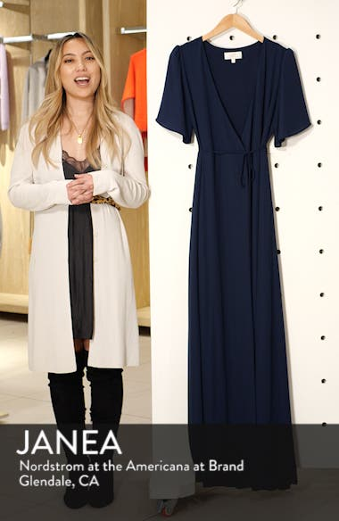 The Aurelia Short Sleeve Wrap Evening Dress, sales video thumbnail
