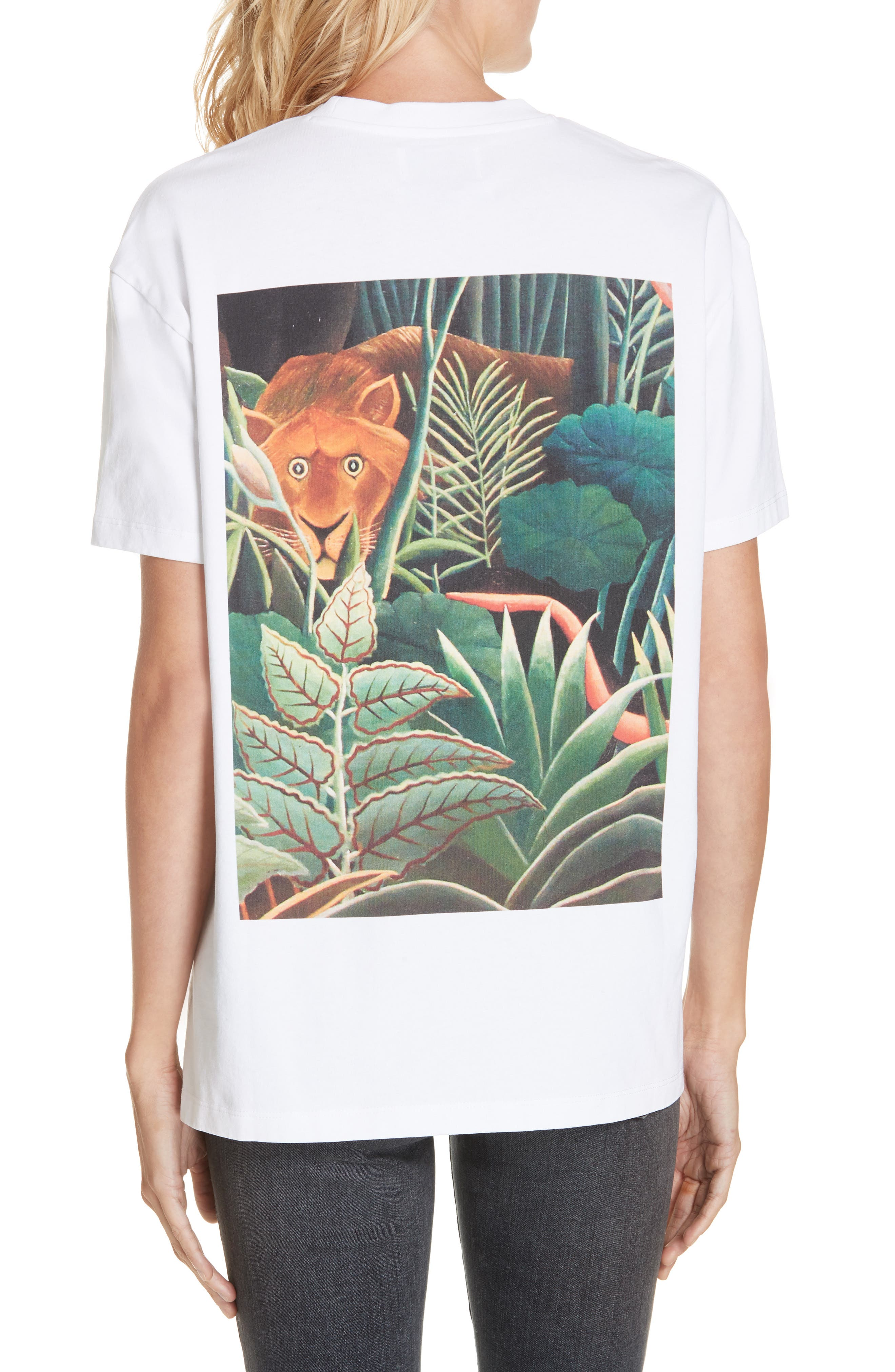 Jungle Tiger Tee,                             Alternate thumbnail 2, color,                             WHITE