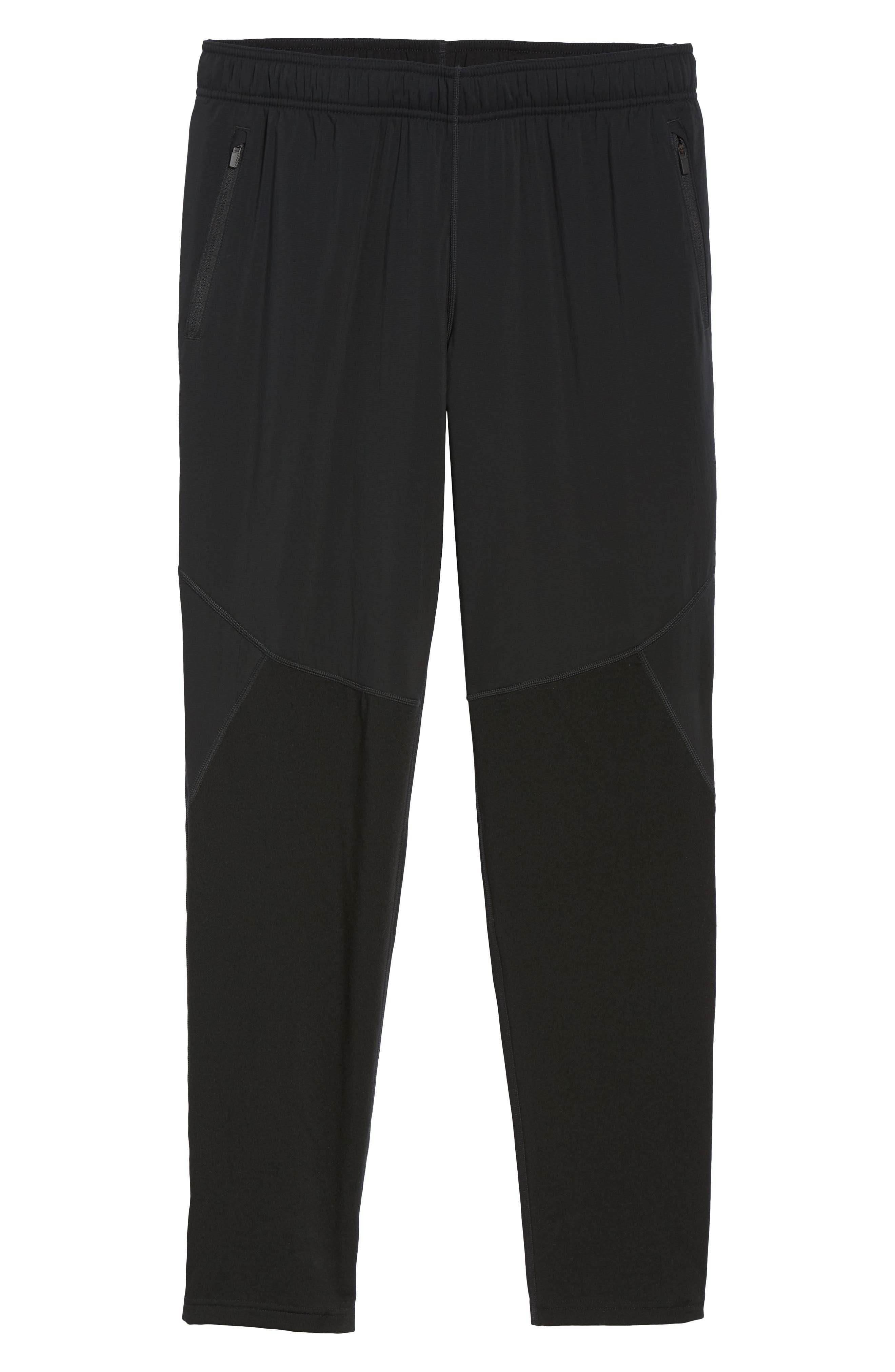 Tech Trainer Hybrid Sport Pants,                             Alternate thumbnail 6, color,                             BLACK