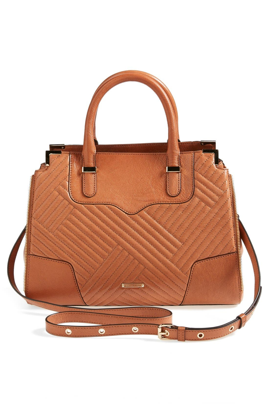 'Amorous' Quilted Satchel,                             Alternate thumbnail 3, color,