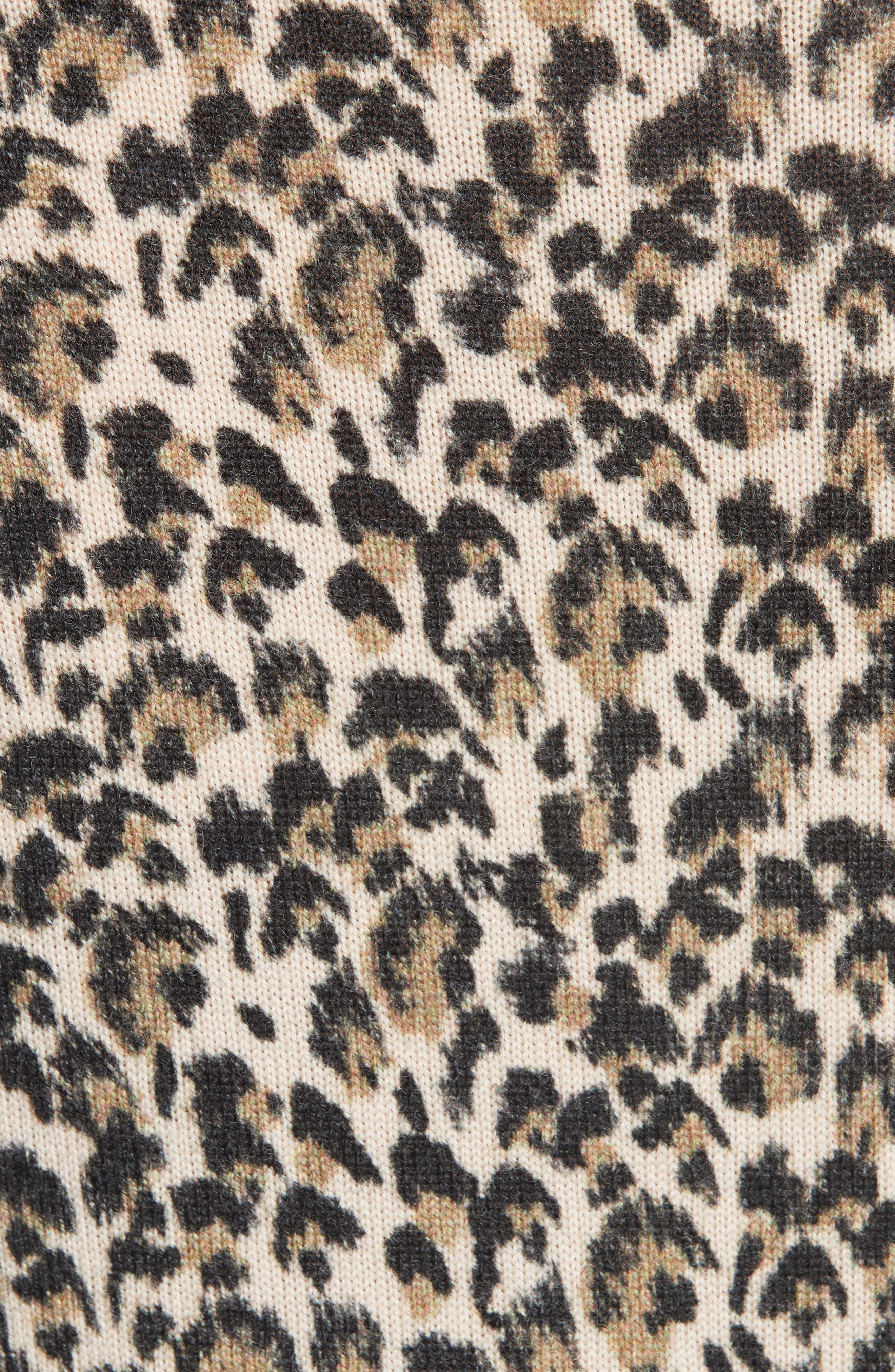 Leopard Print Wool Sweater,                             Alternate thumbnail 5, color,                             250