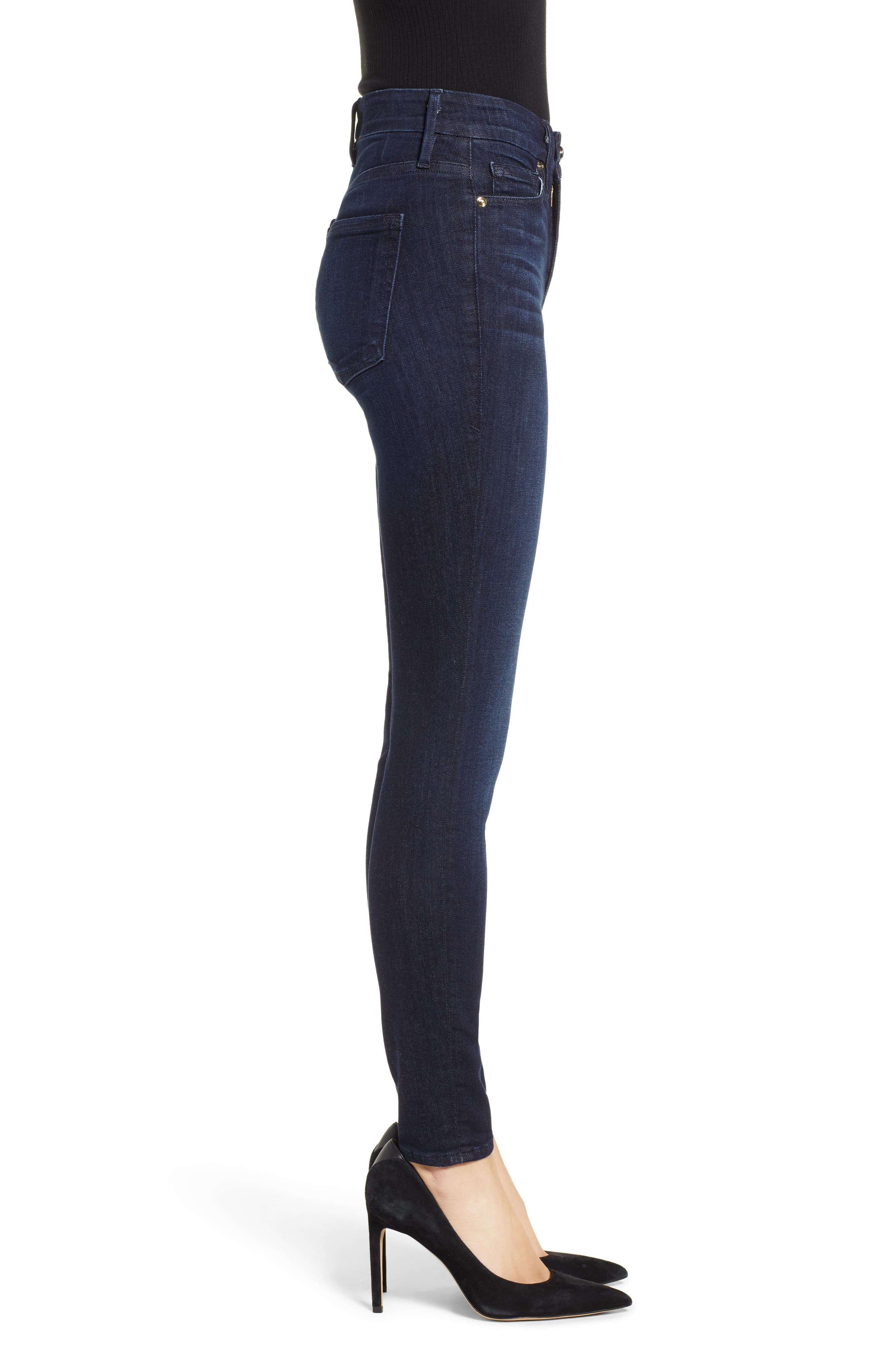 GOOD AMERICAN,                             Good Legs High Waist Skinny Jeans,                             Alternate thumbnail 4, color,                             BLUE224