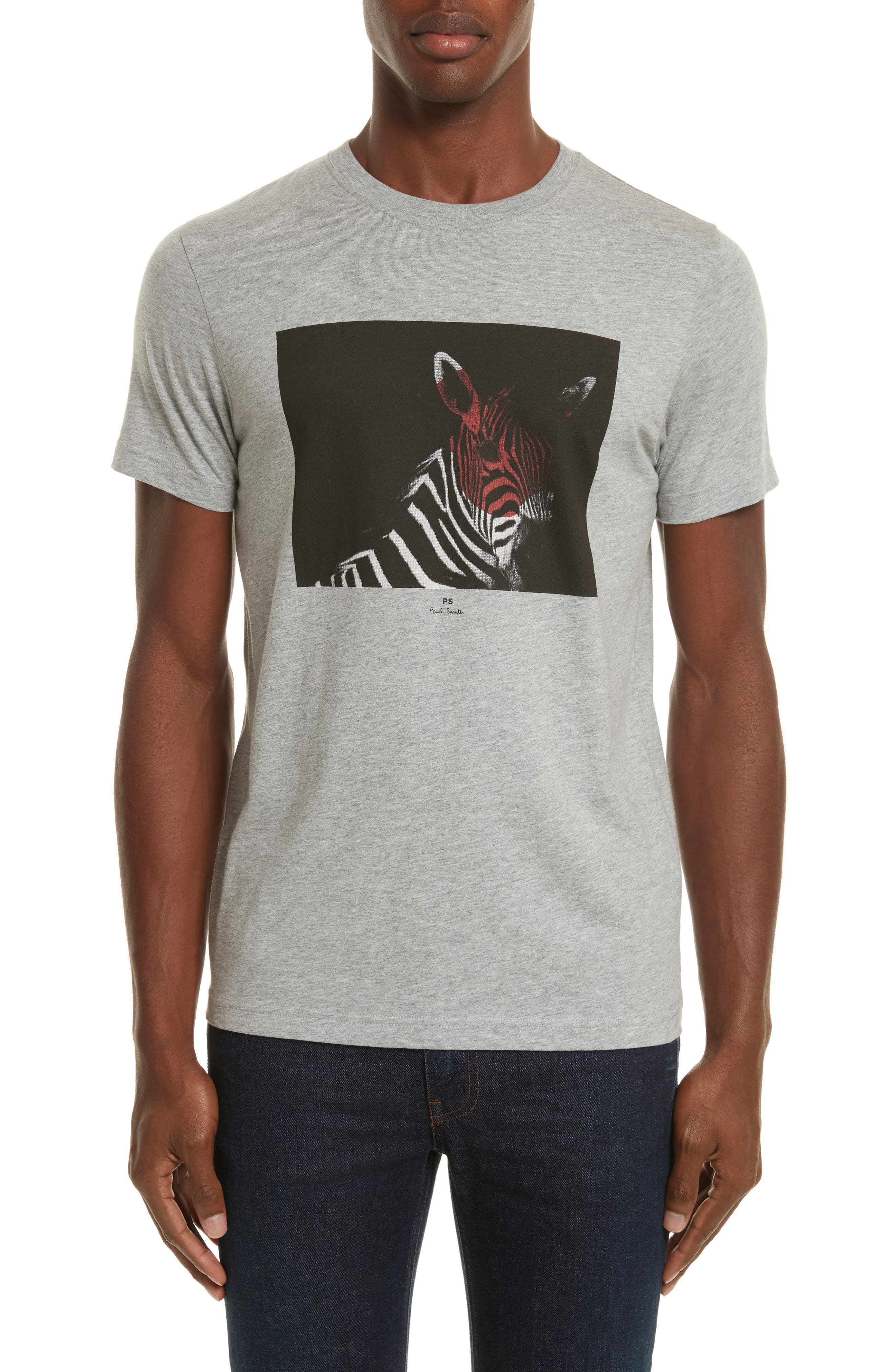 Large Zebra Graphic T-Shirt,                             Main thumbnail 1, color,                             037