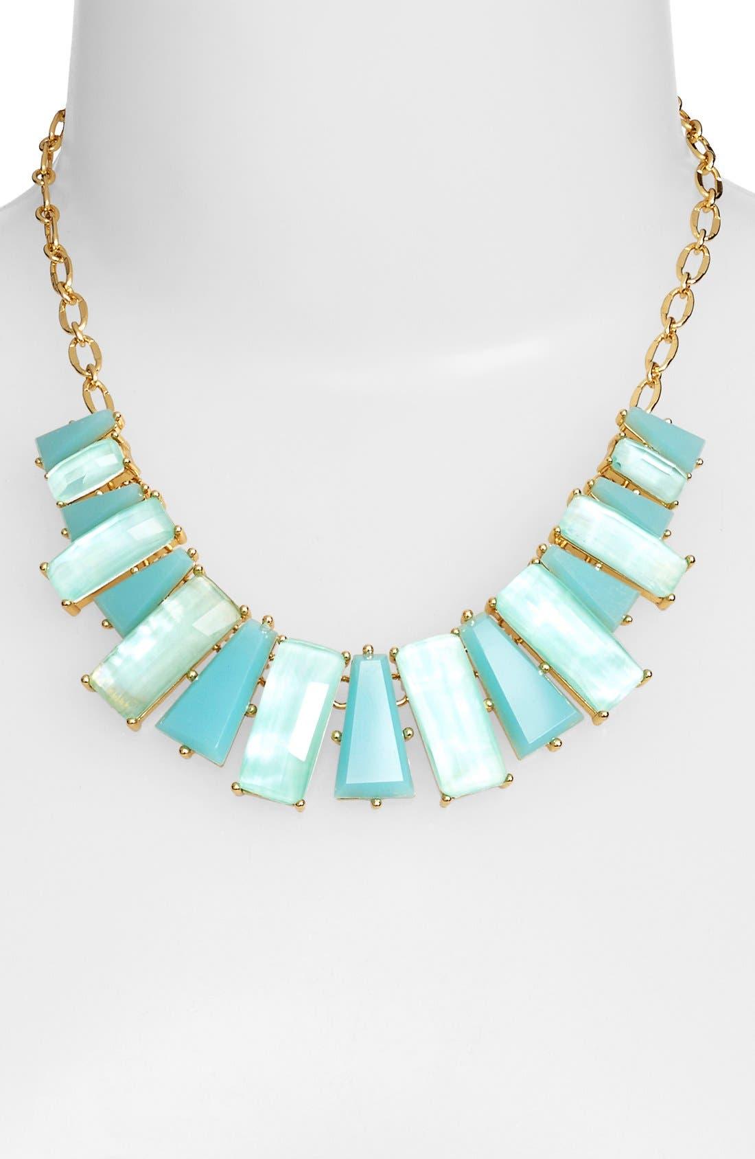 KATE SPADE NEW YORK,                             'beach gem' frontal necklace,                             Alternate thumbnail 2, color,                             405