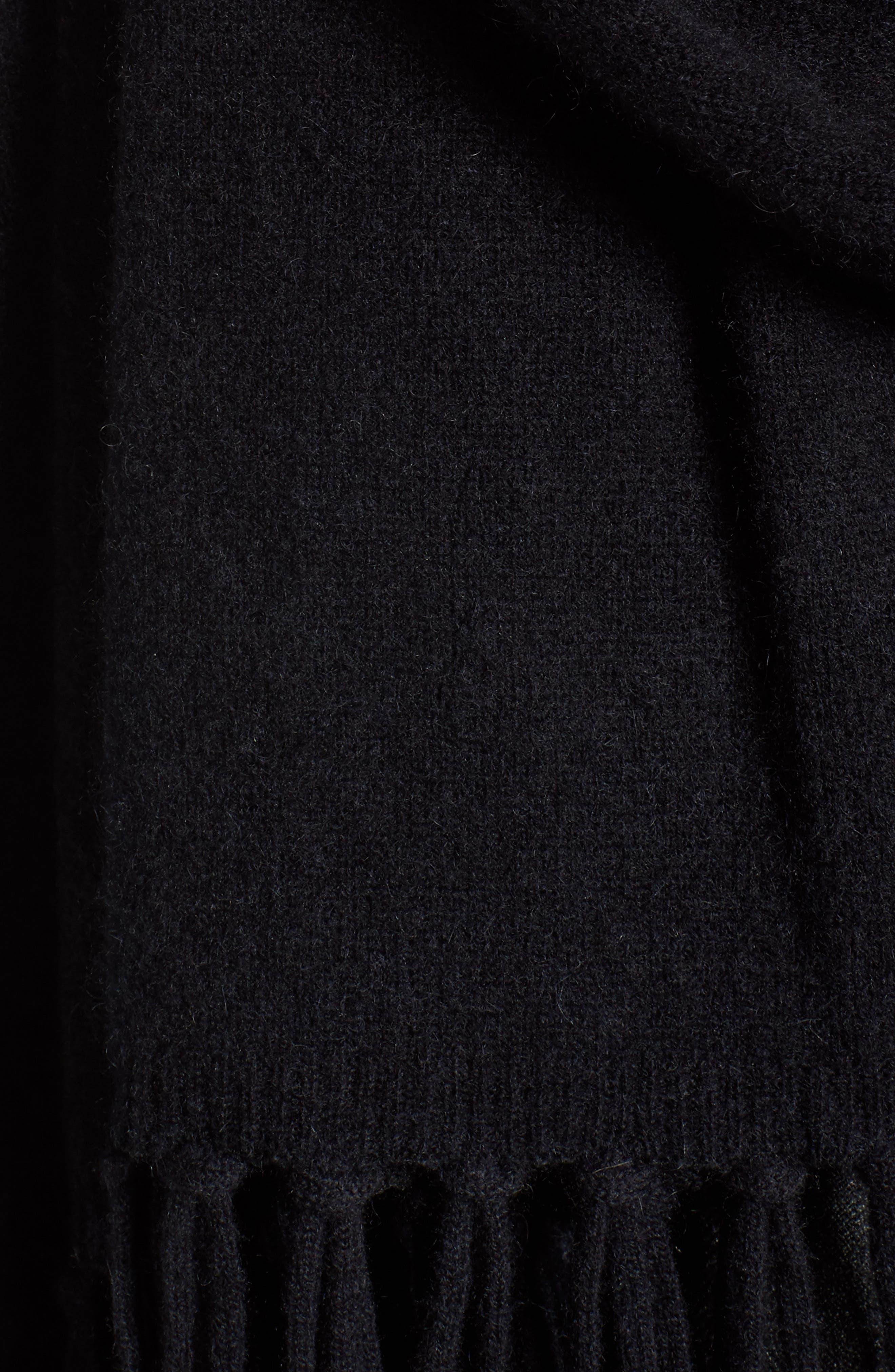 Collection Fringe Cashmere Wrap,                             Alternate thumbnail 5, color,                             001