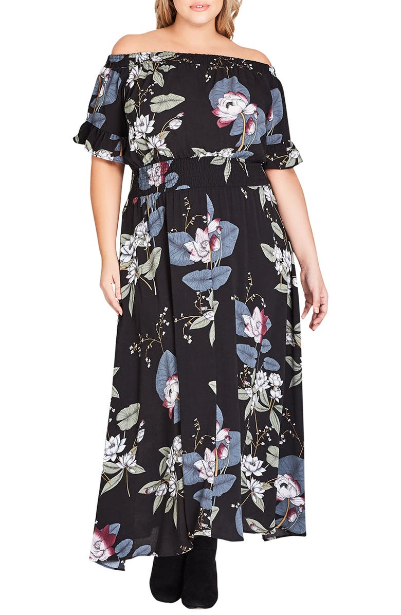 City Chic BLOSSOM FESTIVAL MAXI DRESS