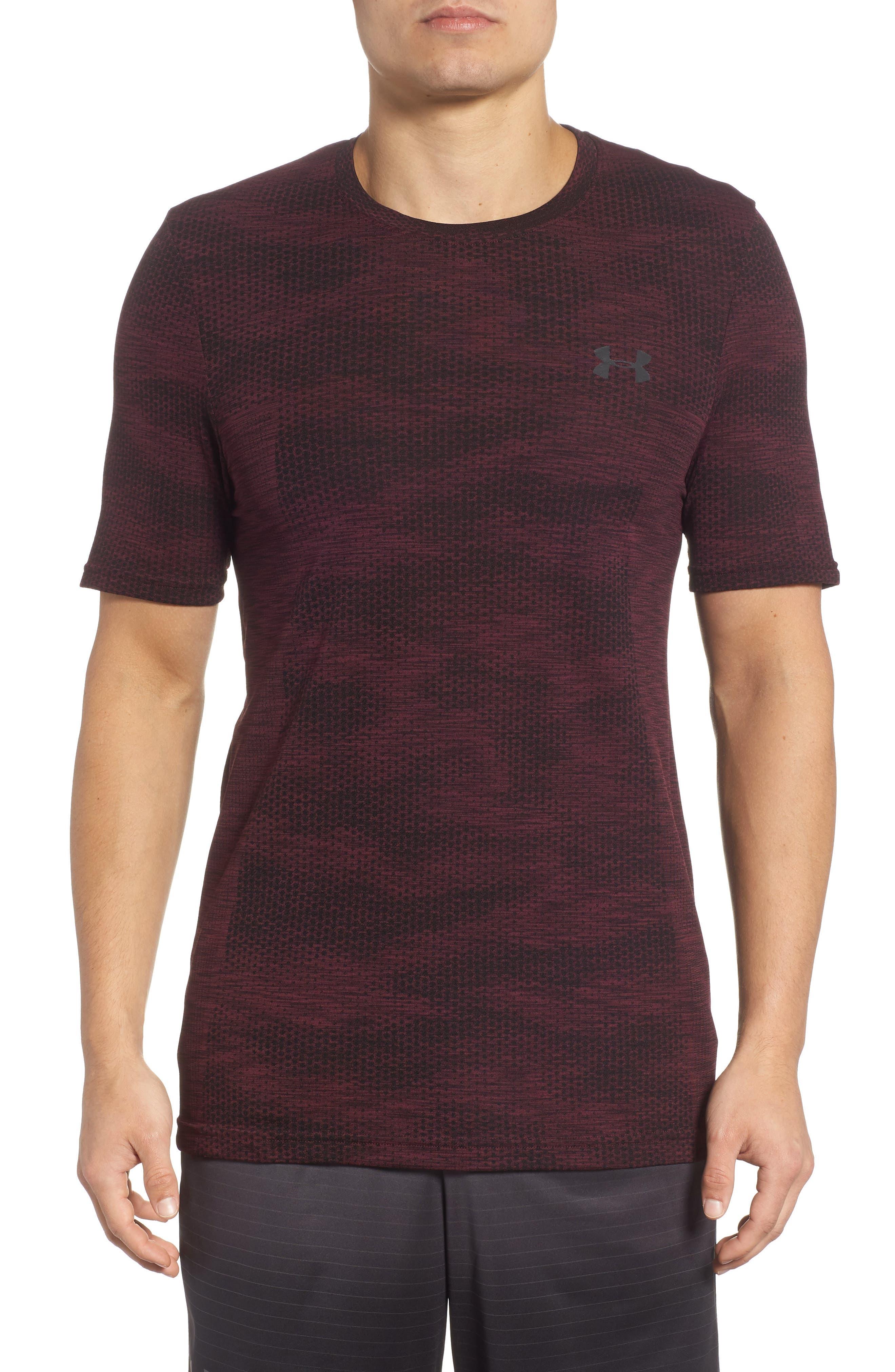Siphon Camo Print Performance T-Shirt,                         Main,                         color, DARK MAROON