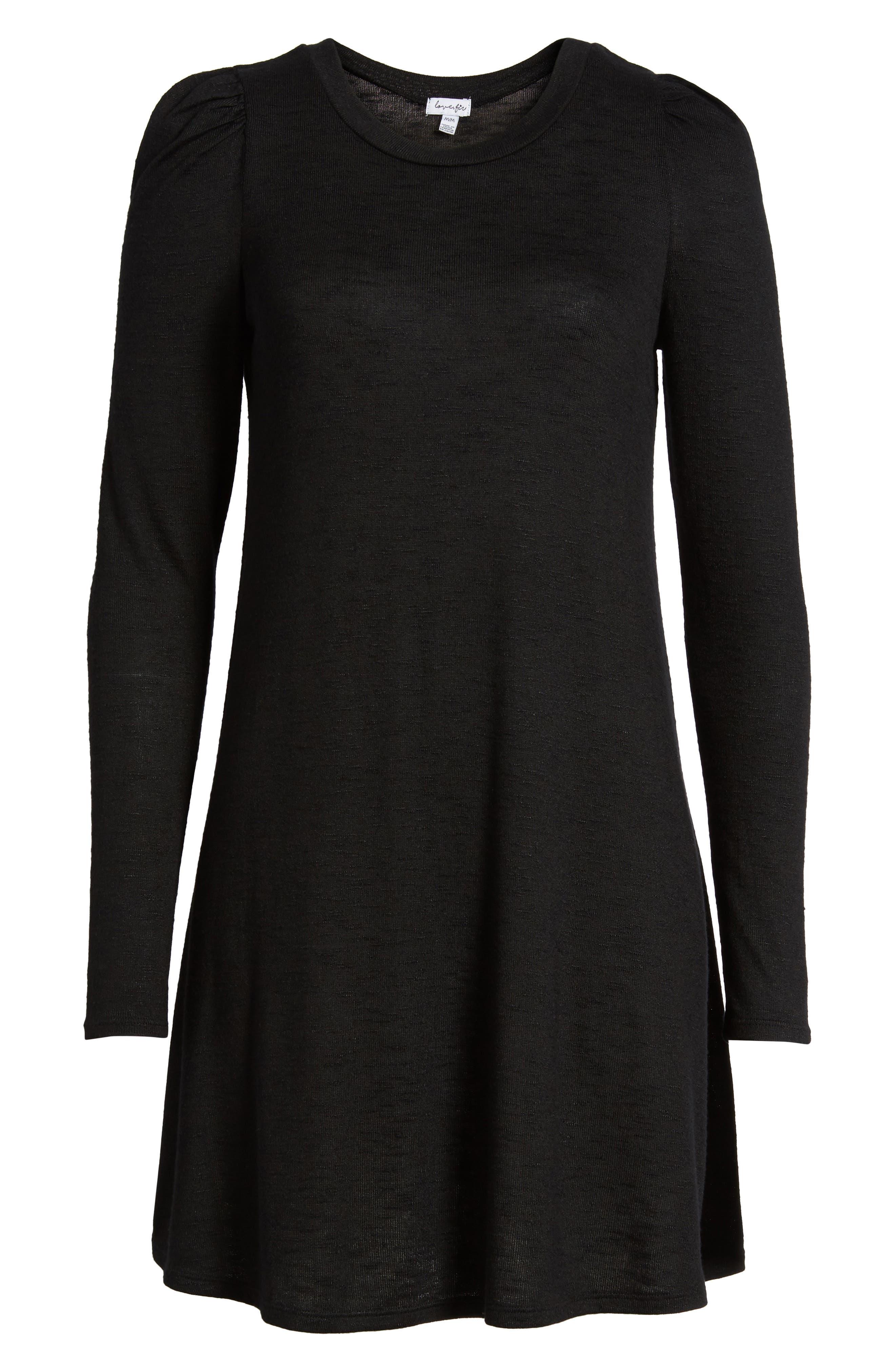 Knit Puff Shoulder Dress,                             Alternate thumbnail 11, color,