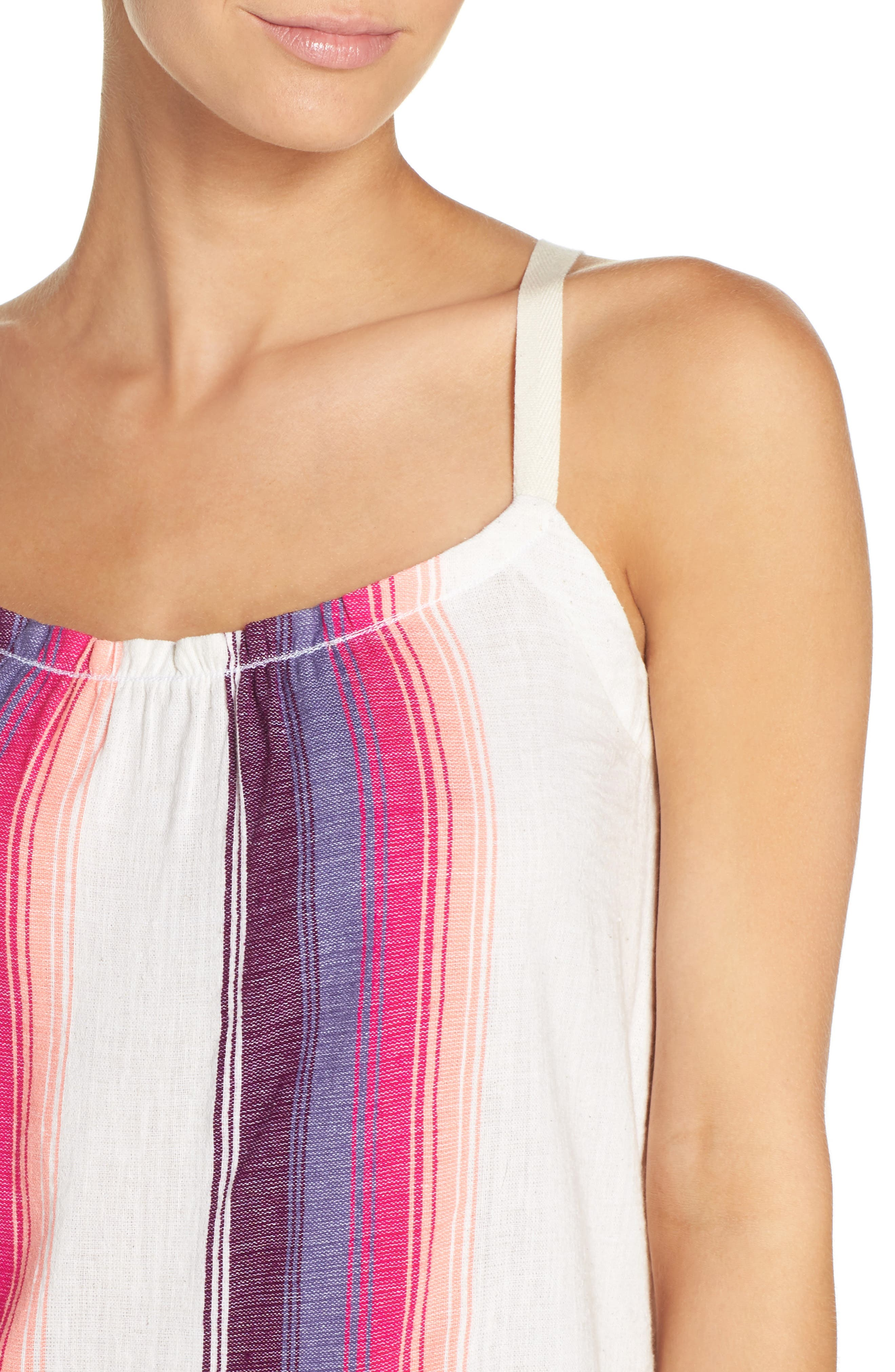 Stripe Cover-Up Dress,                             Alternate thumbnail 4, color,                             100