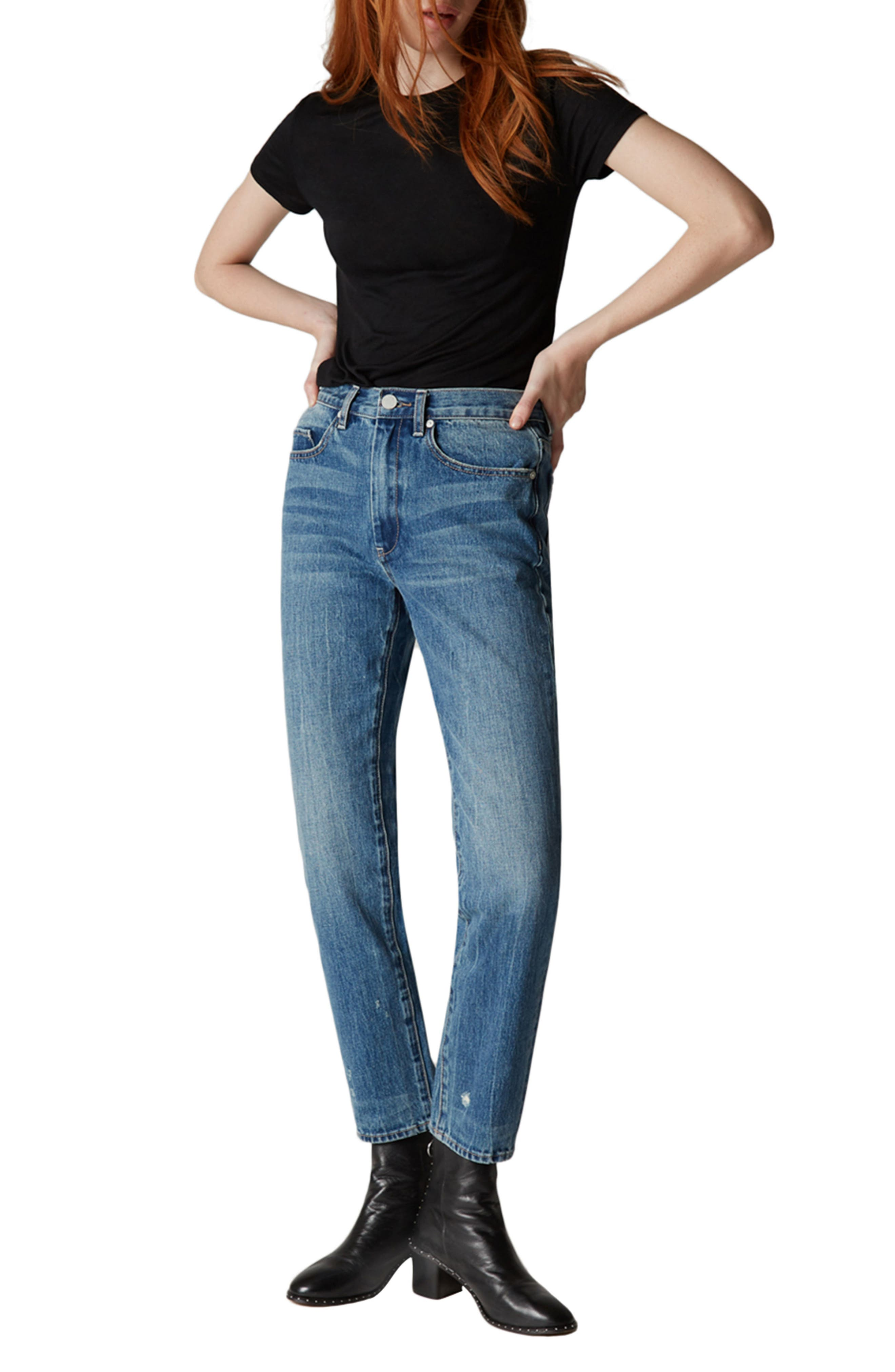 Empty Threat Straight Leg Jeans,                             Alternate thumbnail 4, color,