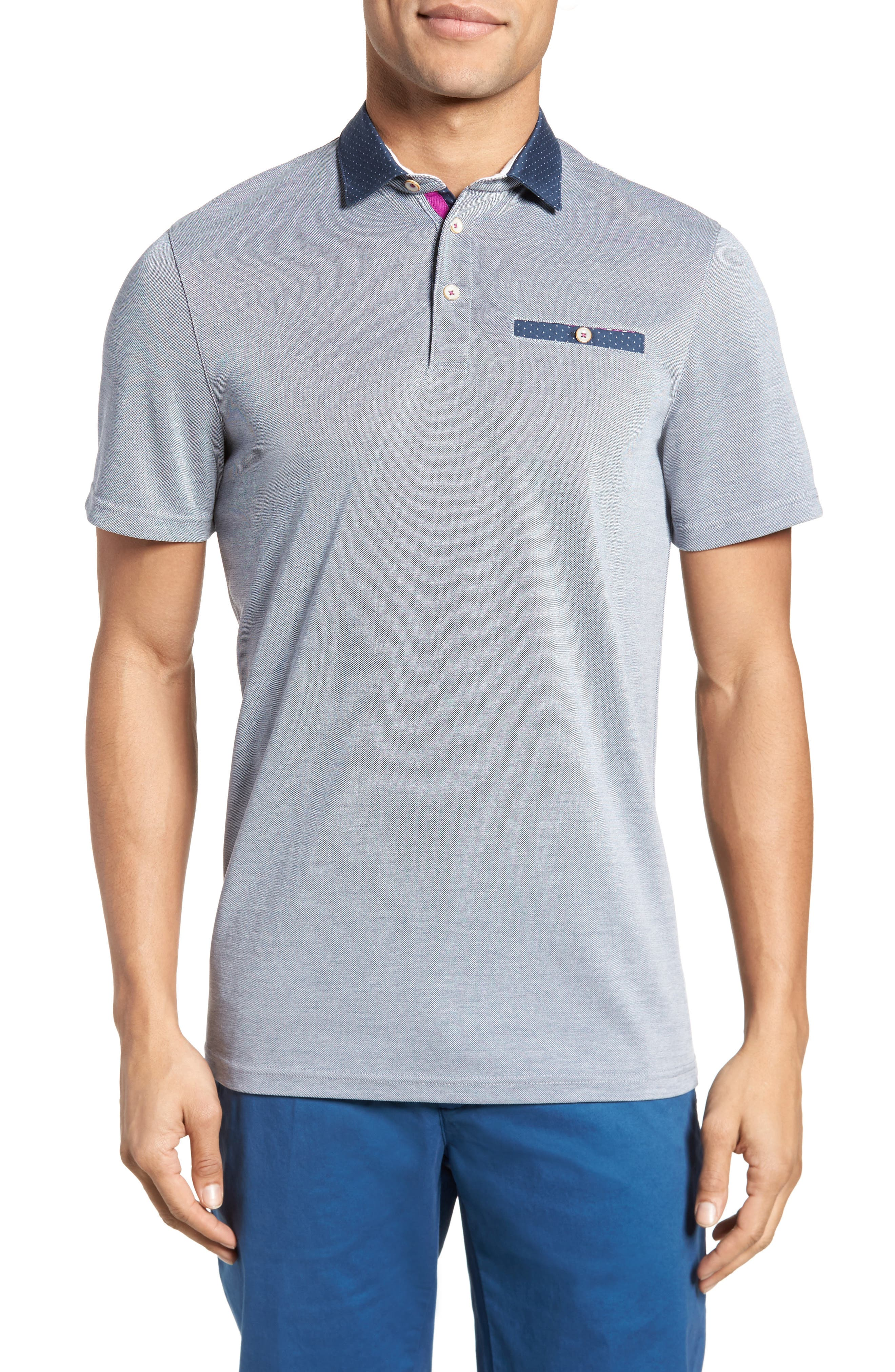 Mikeytt Trim Fit Polo,                         Main,                         color, 410