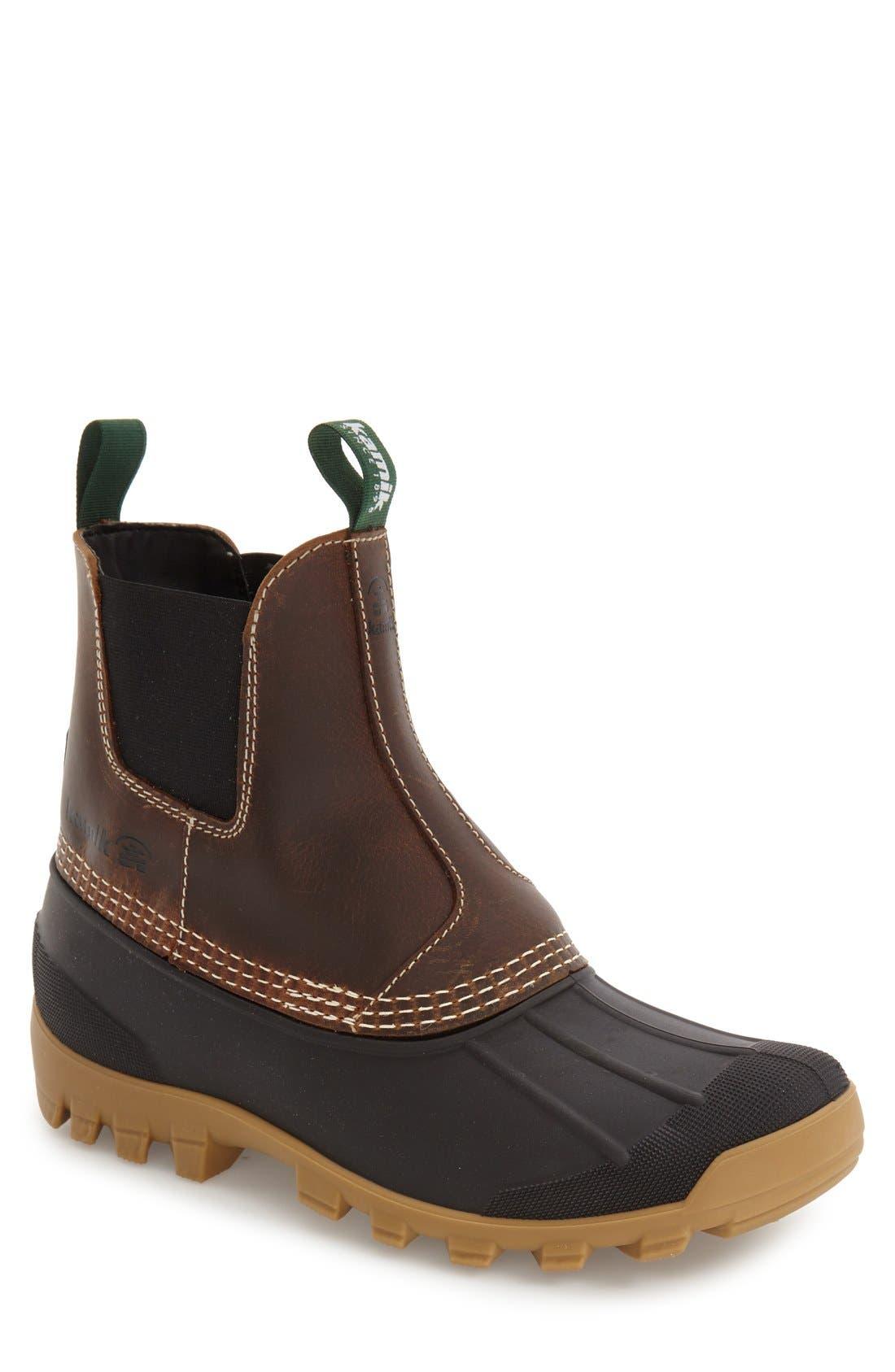 Yukon C Snow Waterproof Boot,                             Main thumbnail 1, color,                             DARK BROWN LEATHER