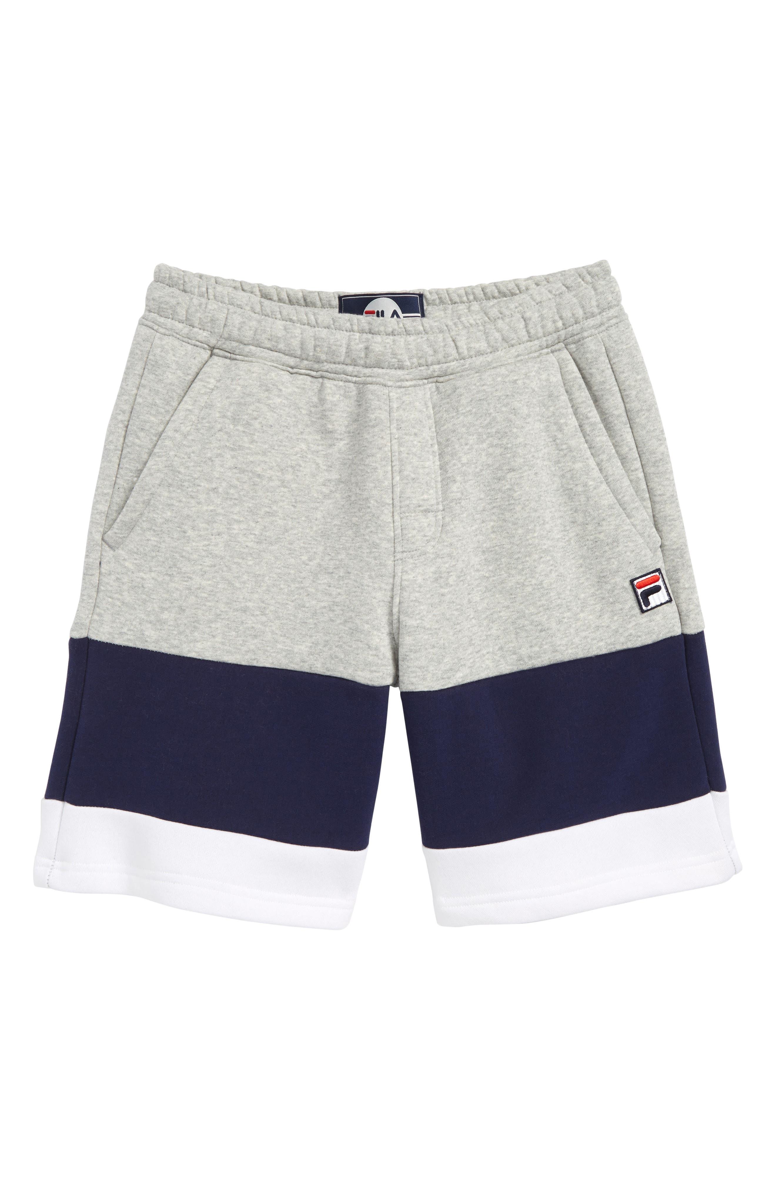 Colorblock Sweat Shorts,                             Main thumbnail 1, color,                             050