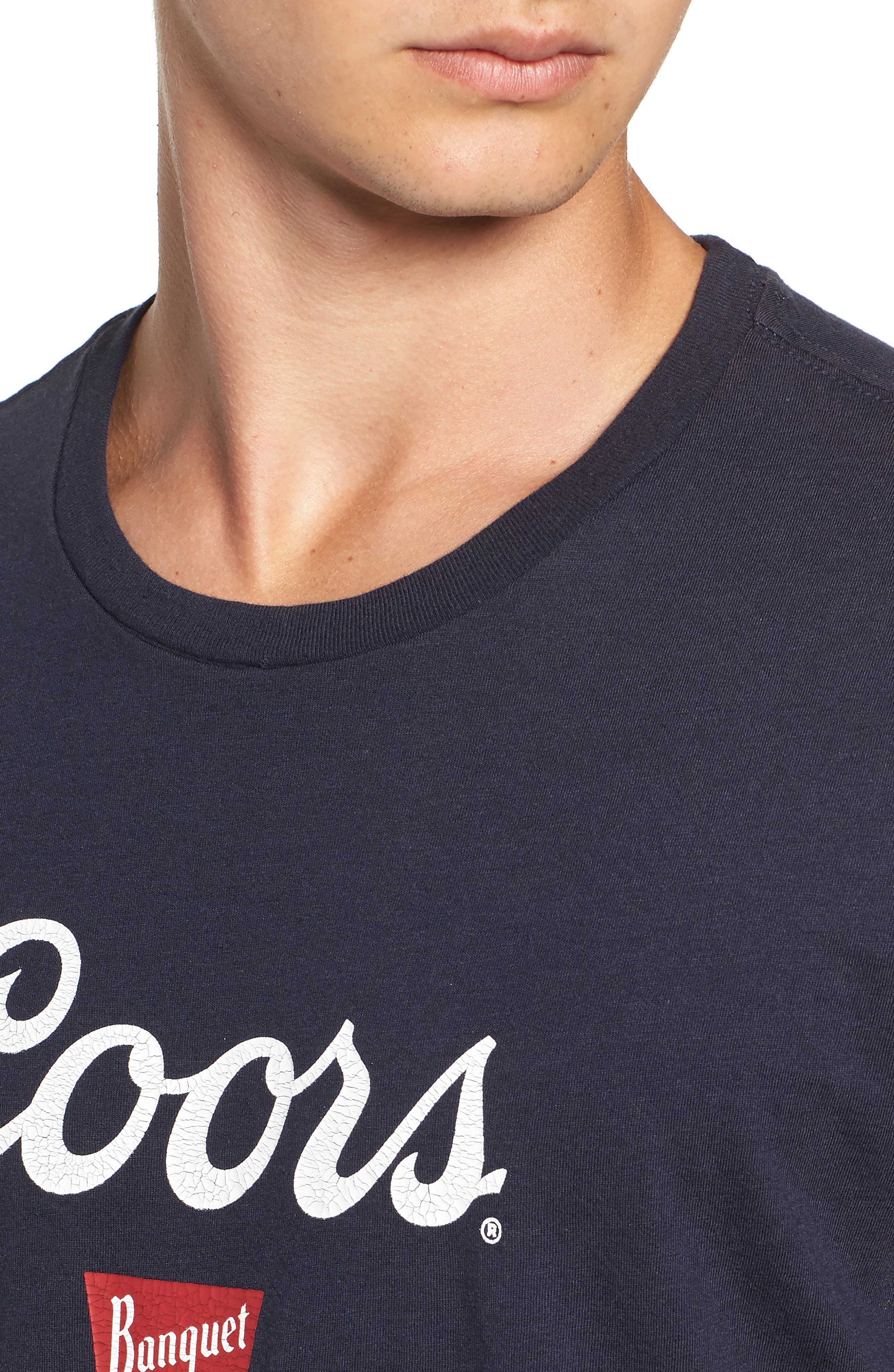 x Coors Hops T-Shirt,                             Alternate thumbnail 4, color,                             NAVY