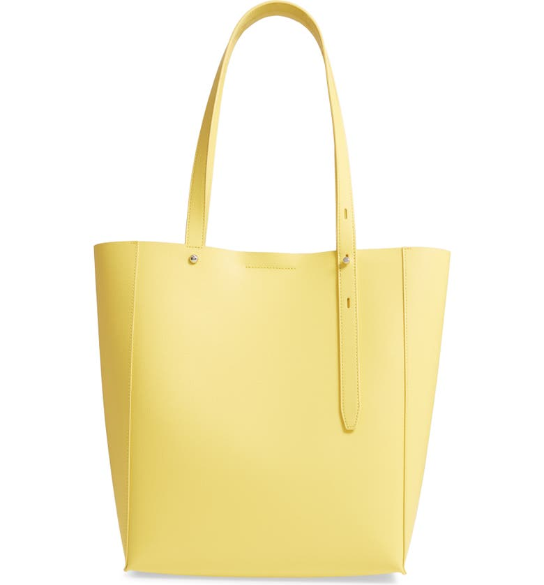 REBECCA MINKOFF Stella Leather Tote, Main, color, CAPR YELLOW