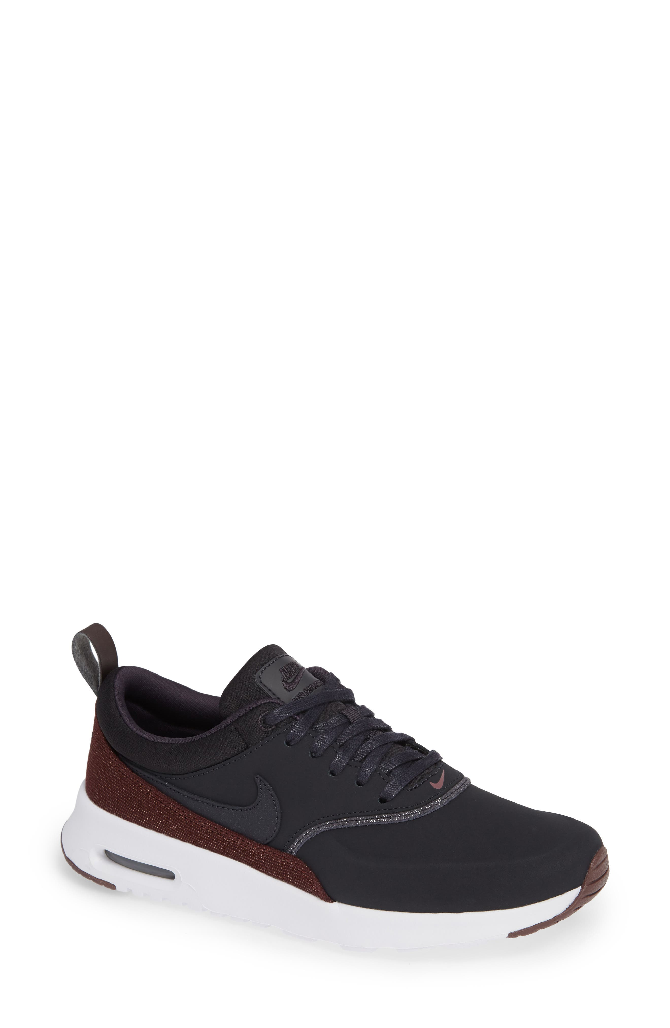 Air Max Thea Sneaker,                         Main,                         color, OIL GREY/ OIL GREY/ MAHOGANY