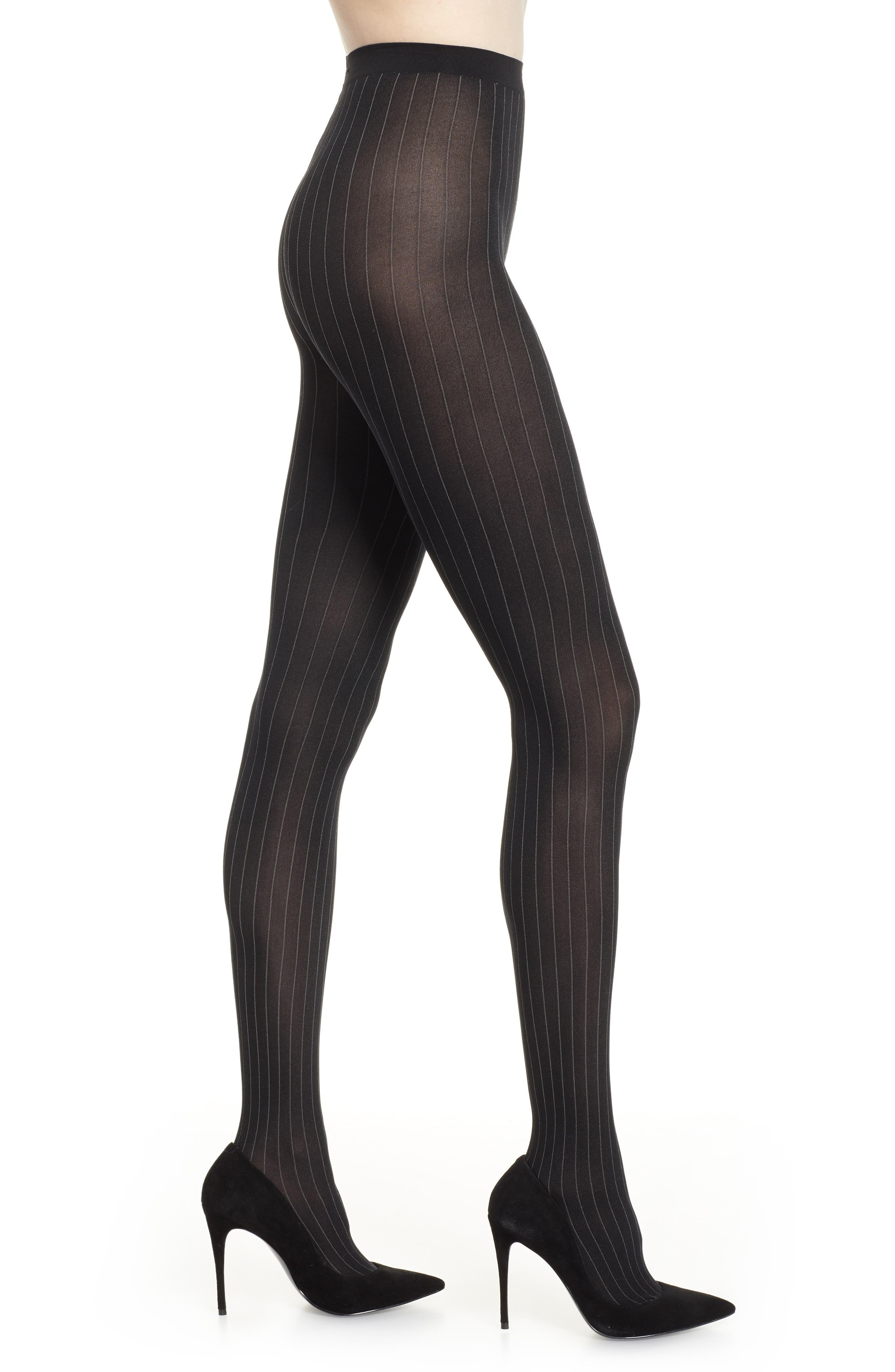 Muriel Tights in Black/ White