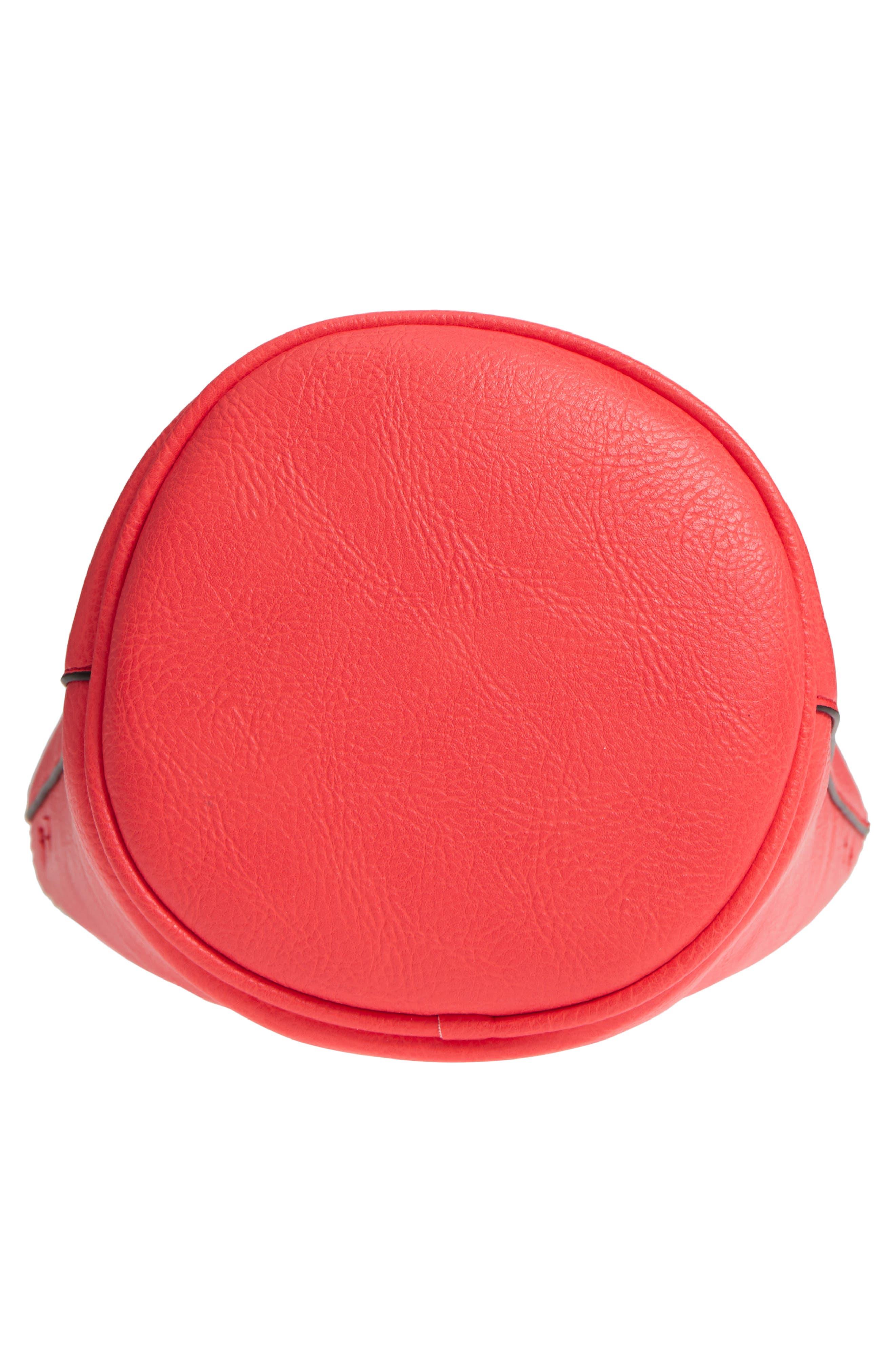 Mali + Lili Ilia Vegan Leather Ring Handle Bucket Bag,                             Alternate thumbnail 18, color,