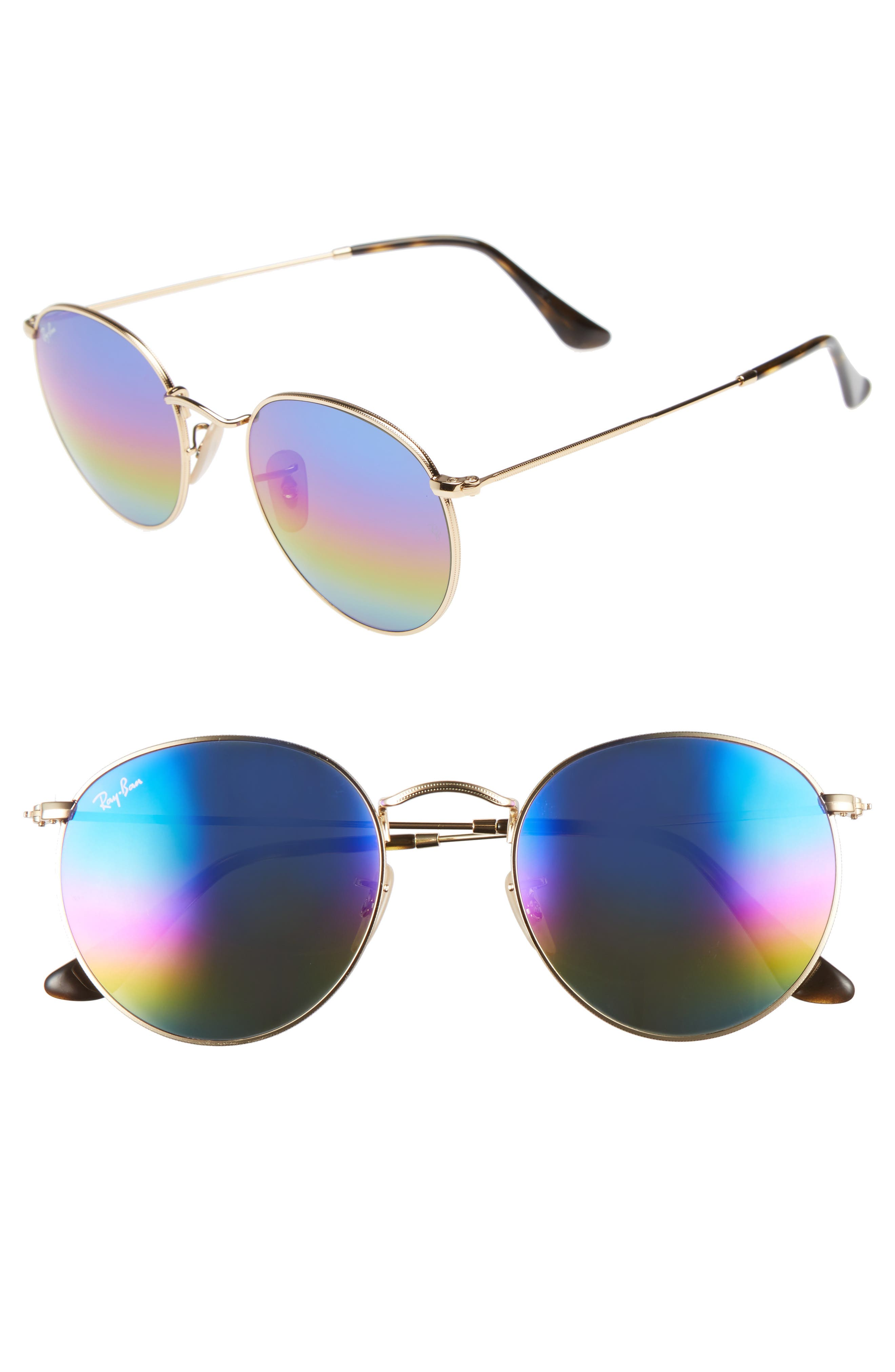 53mm Round Sunglasses,                             Main thumbnail 1, color,                             400