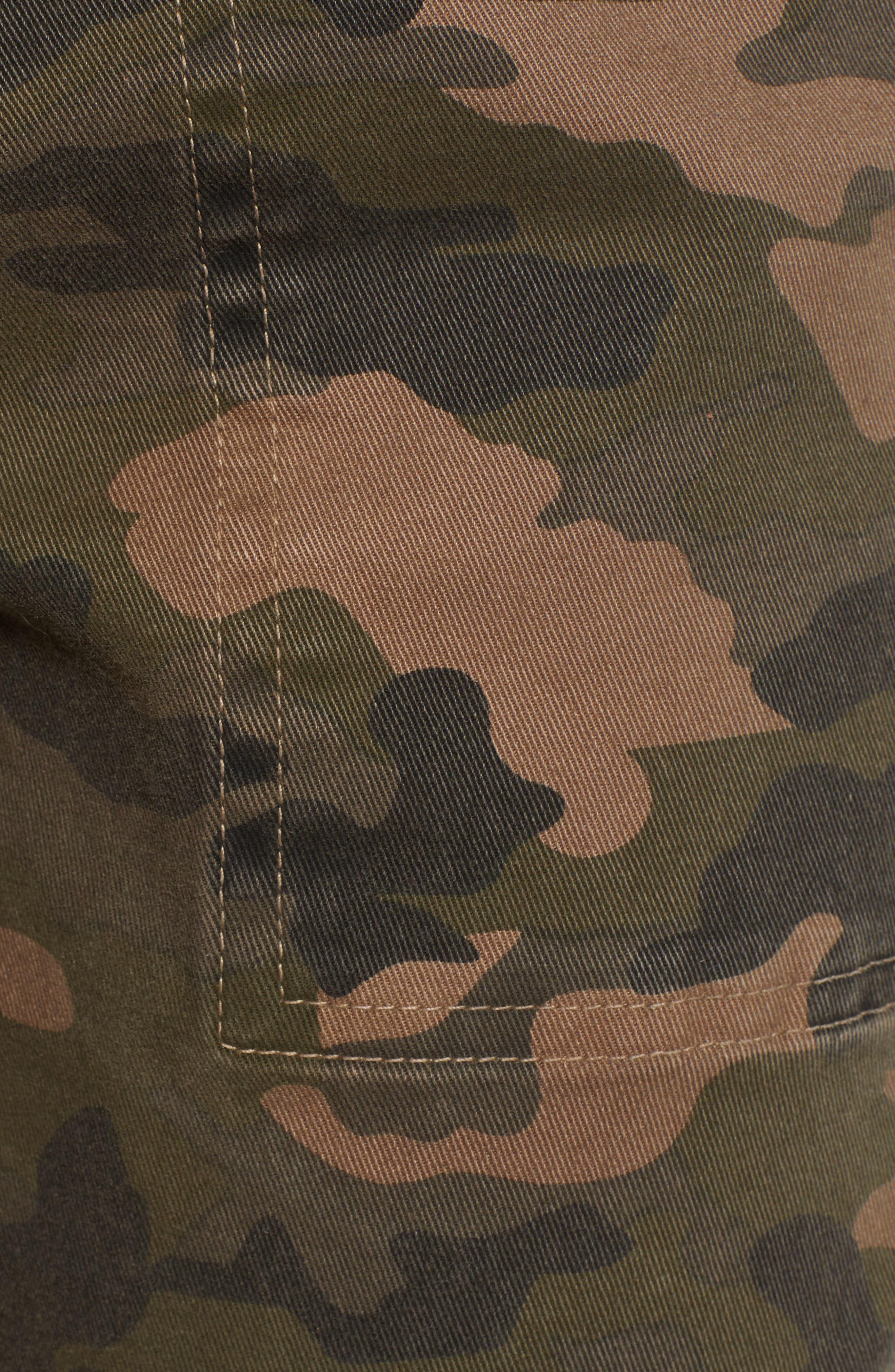 Uniform Stripe Step Hem Pants,                             Alternate thumbnail 6, color,                             ARMY