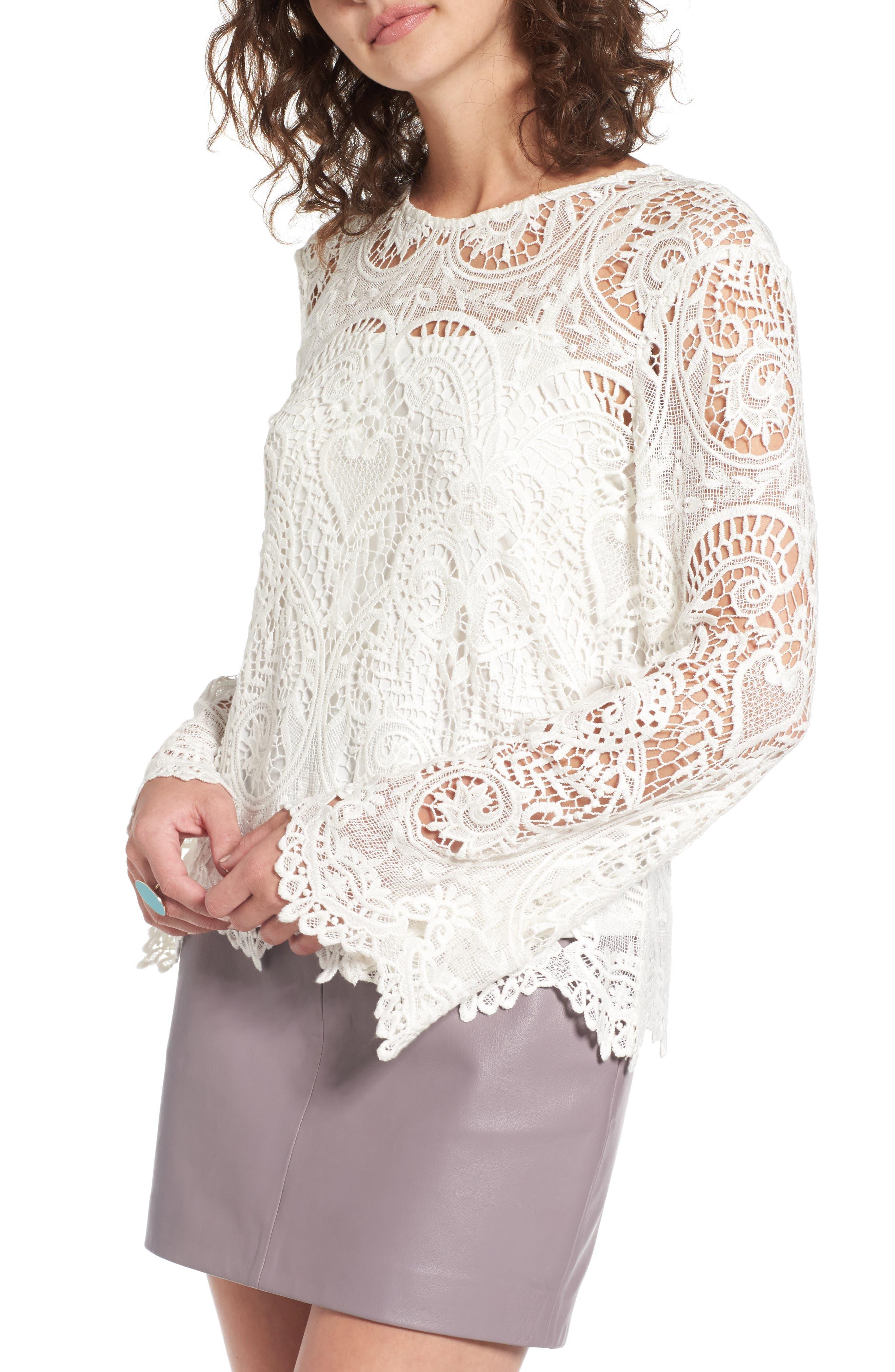 Lenox Lace Top,                         Main,                         color, 900