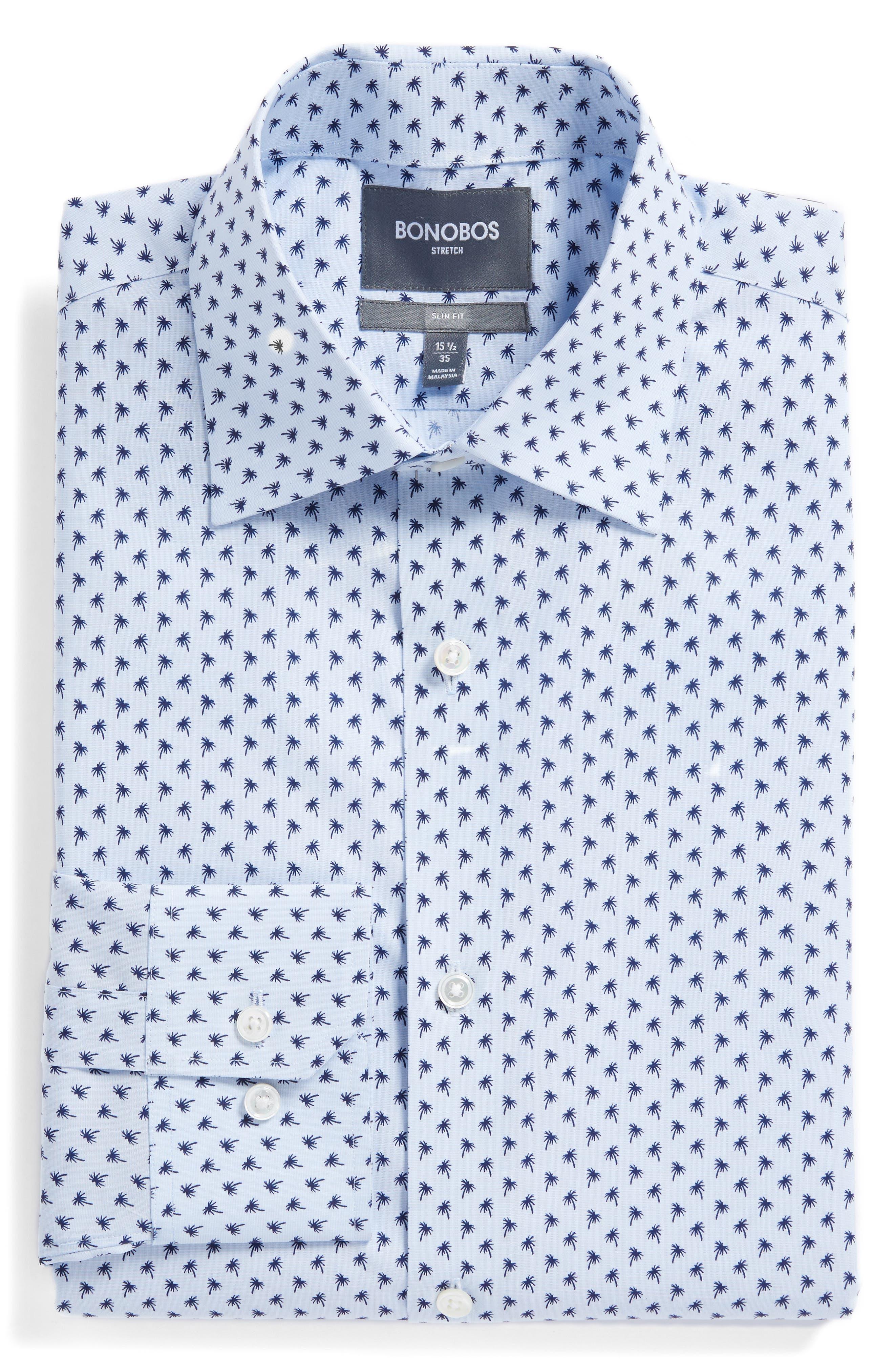 Jetsetter Slim Fit Print Dress Shirt,                             Main thumbnail 1, color,