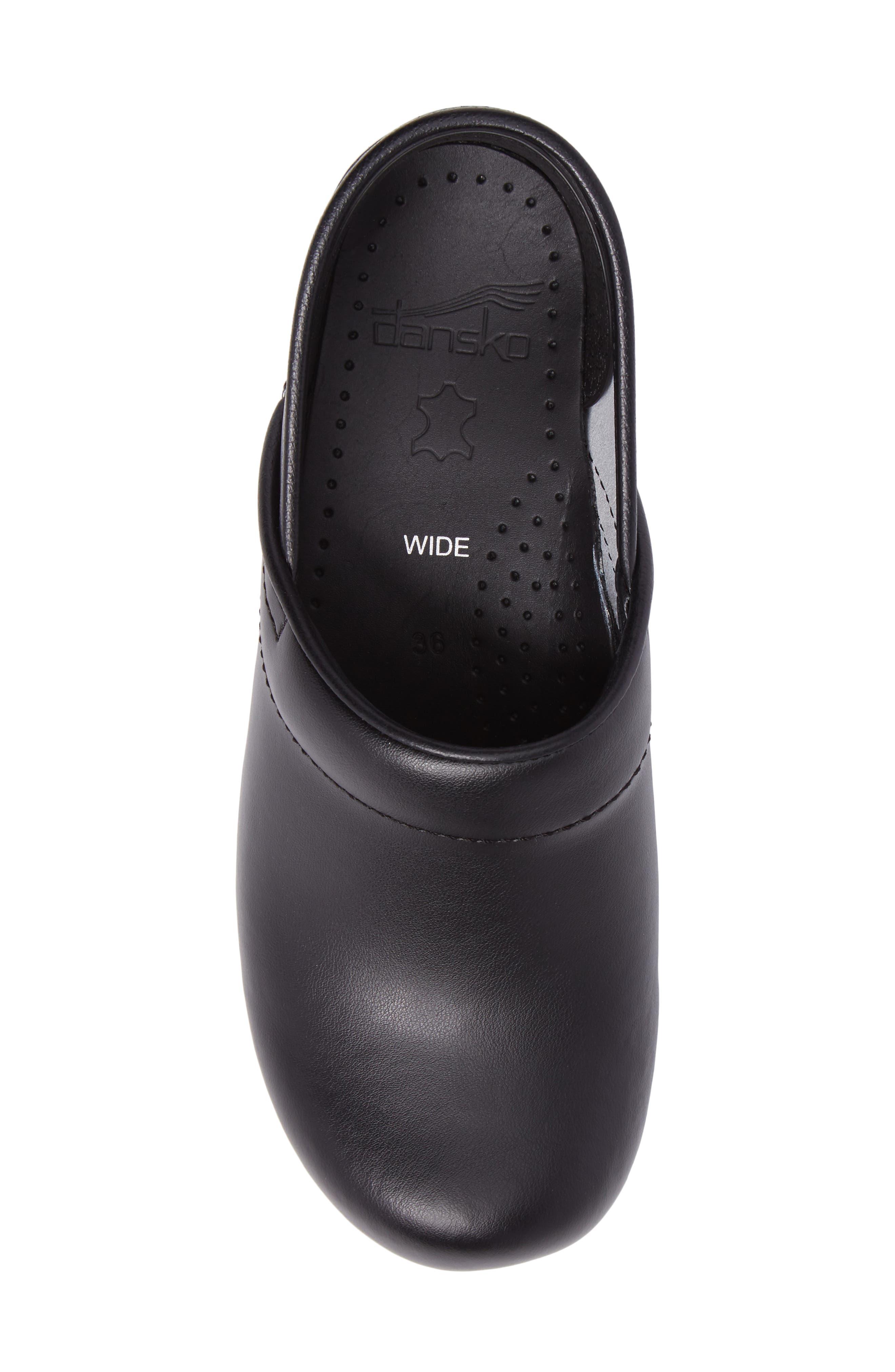 Wide Pro Clog,                             Alternate thumbnail 5, color,                             BLACK BOX LEATHER