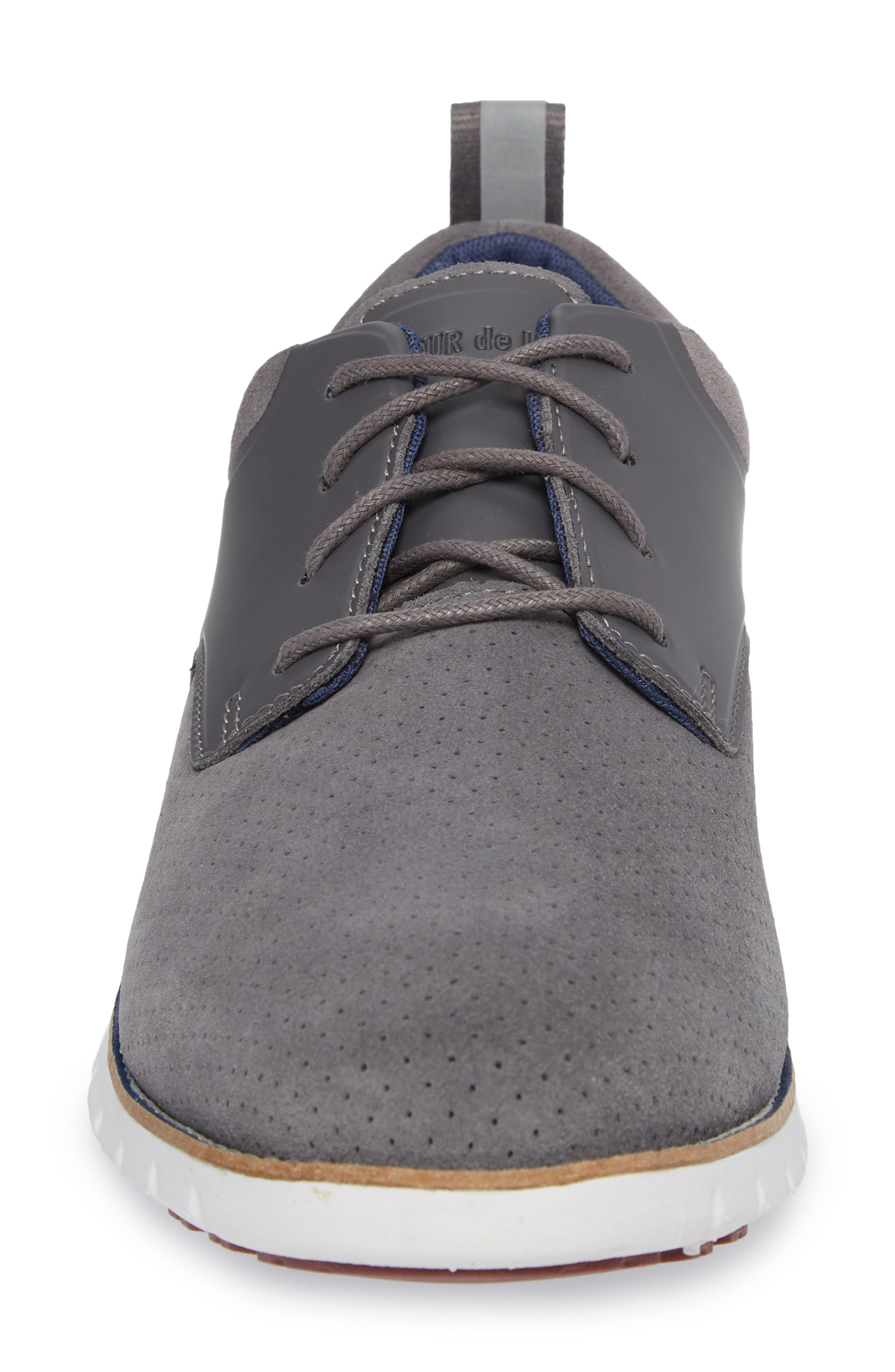 Ridley Perforated Low Top Sneaker,                             Alternate thumbnail 4, color,                             020