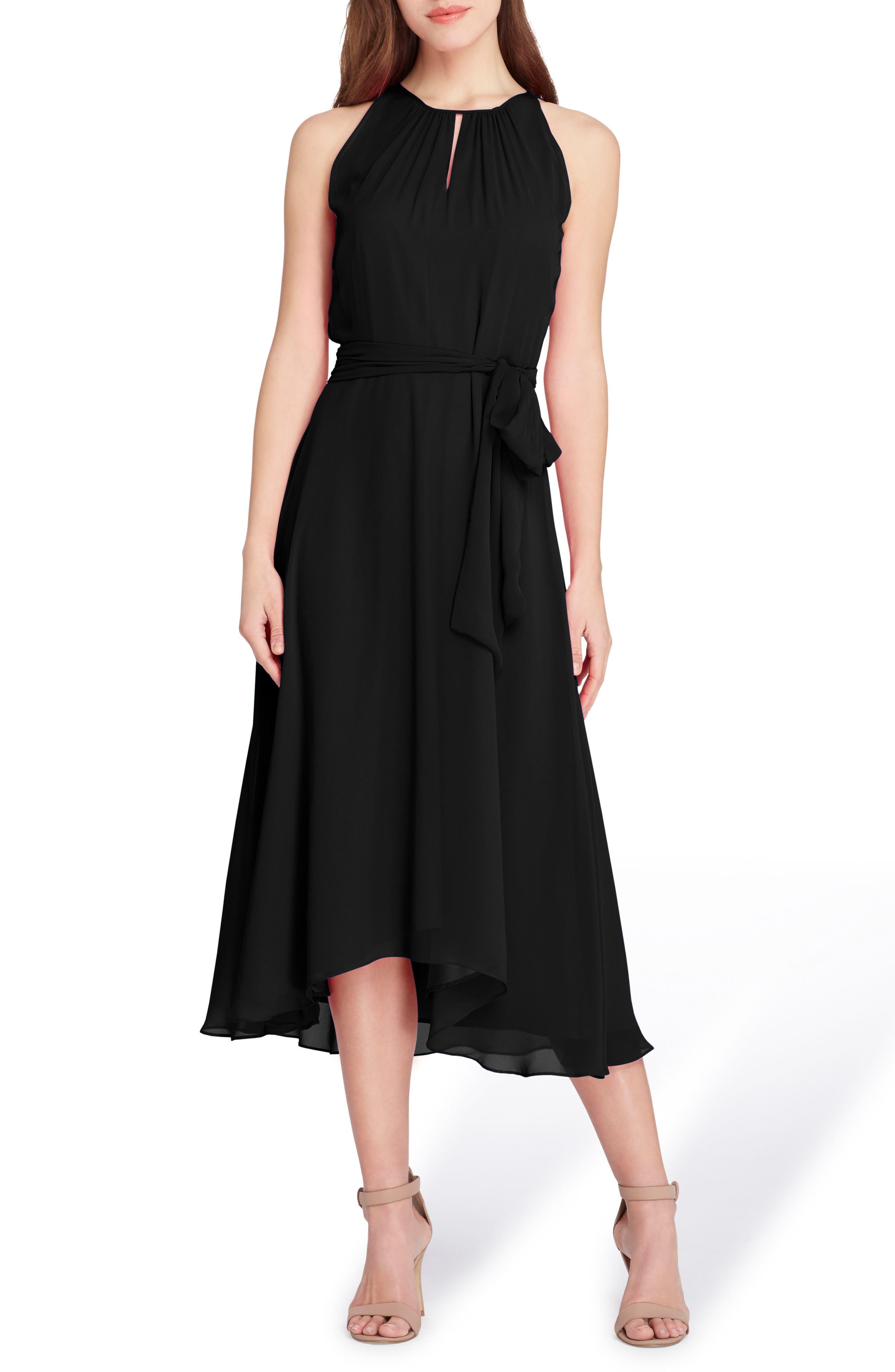 Sleeveless Chiffon Midi Dress,                             Main thumbnail 1, color,                             001