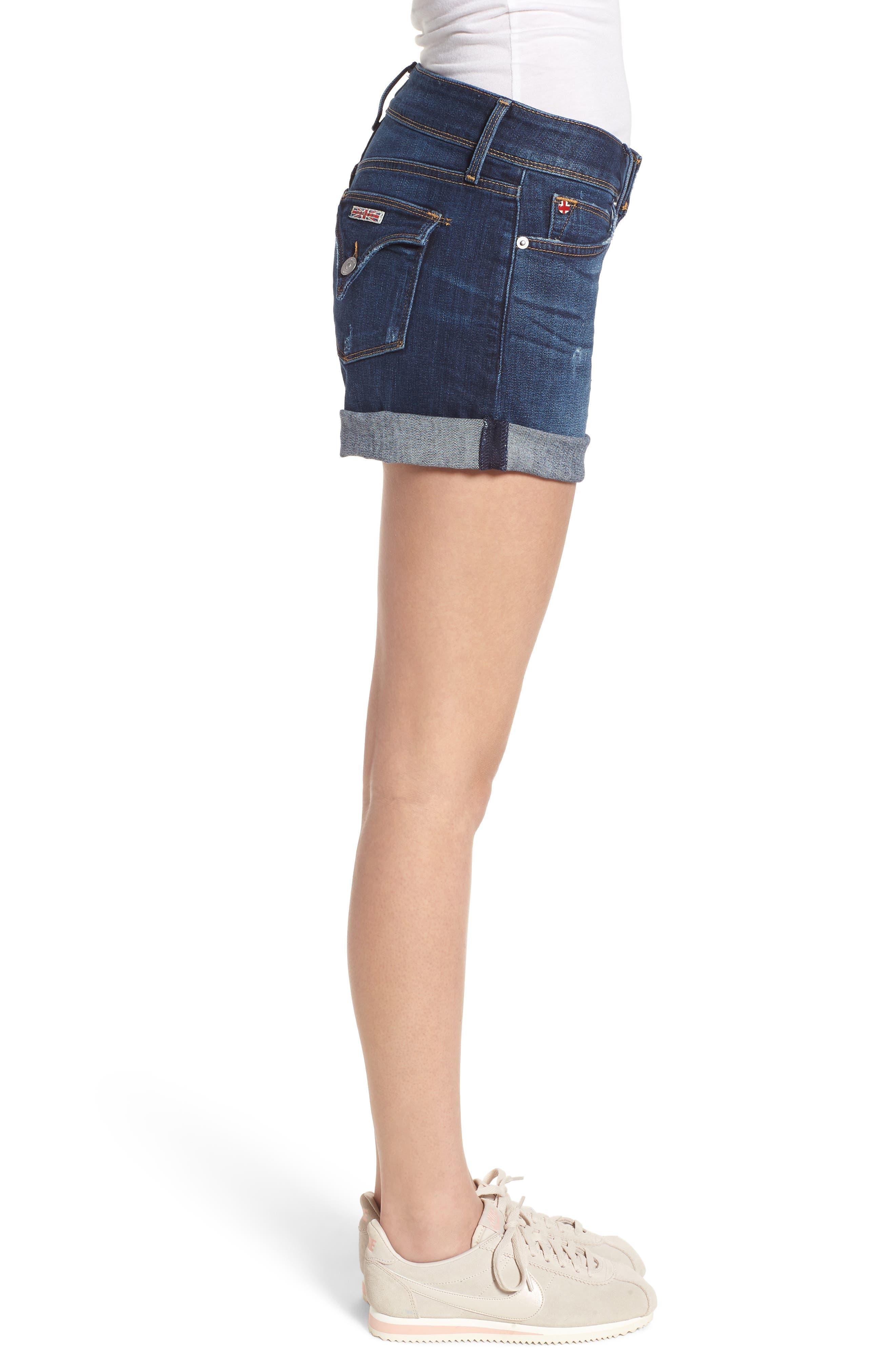 Croxley Cuffed Denim Shorts,                             Alternate thumbnail 3, color,                             423