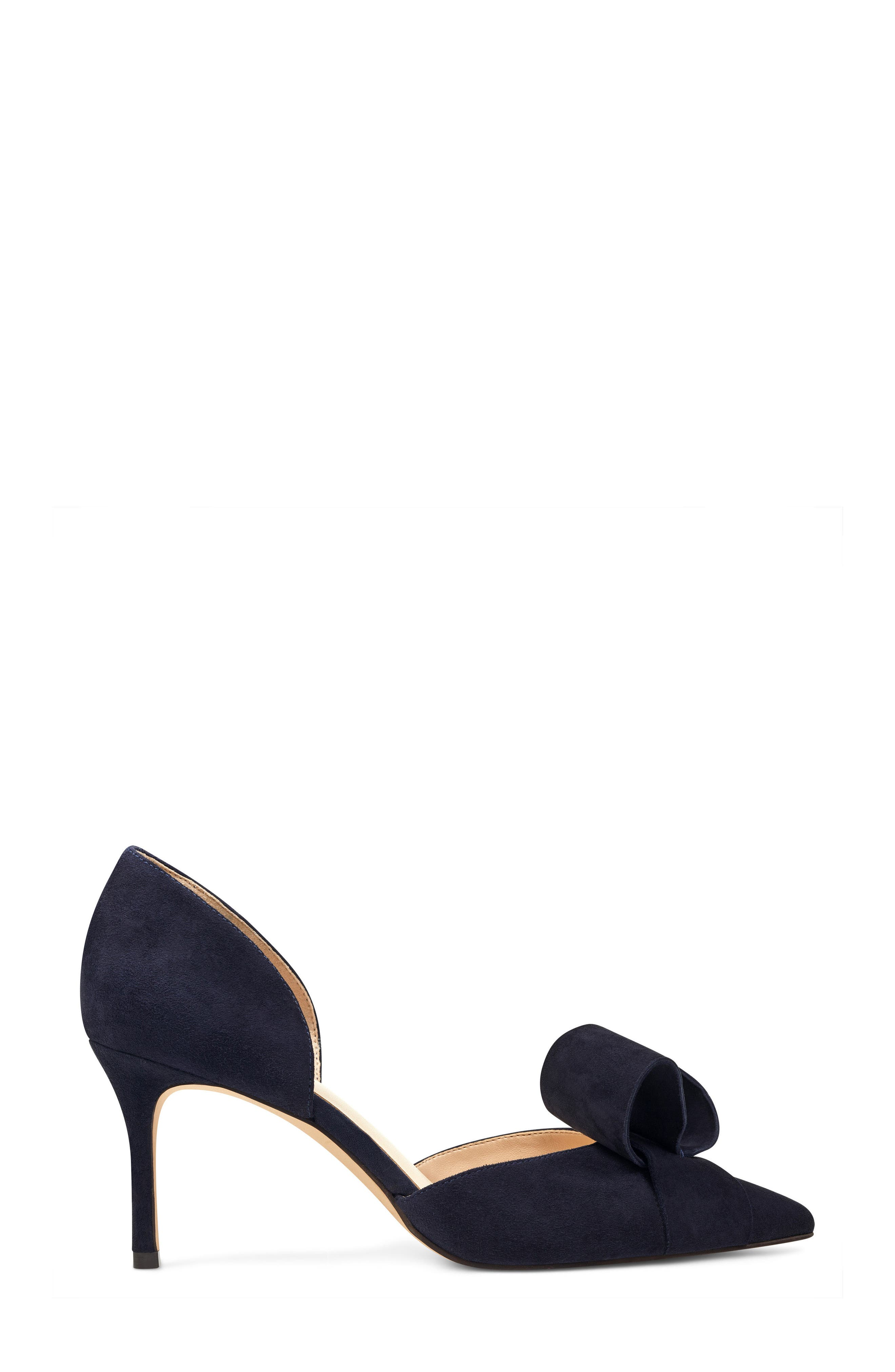 McFally d'Orsay Pump,                             Alternate thumbnail 3, color,                             NAVY SUEDE