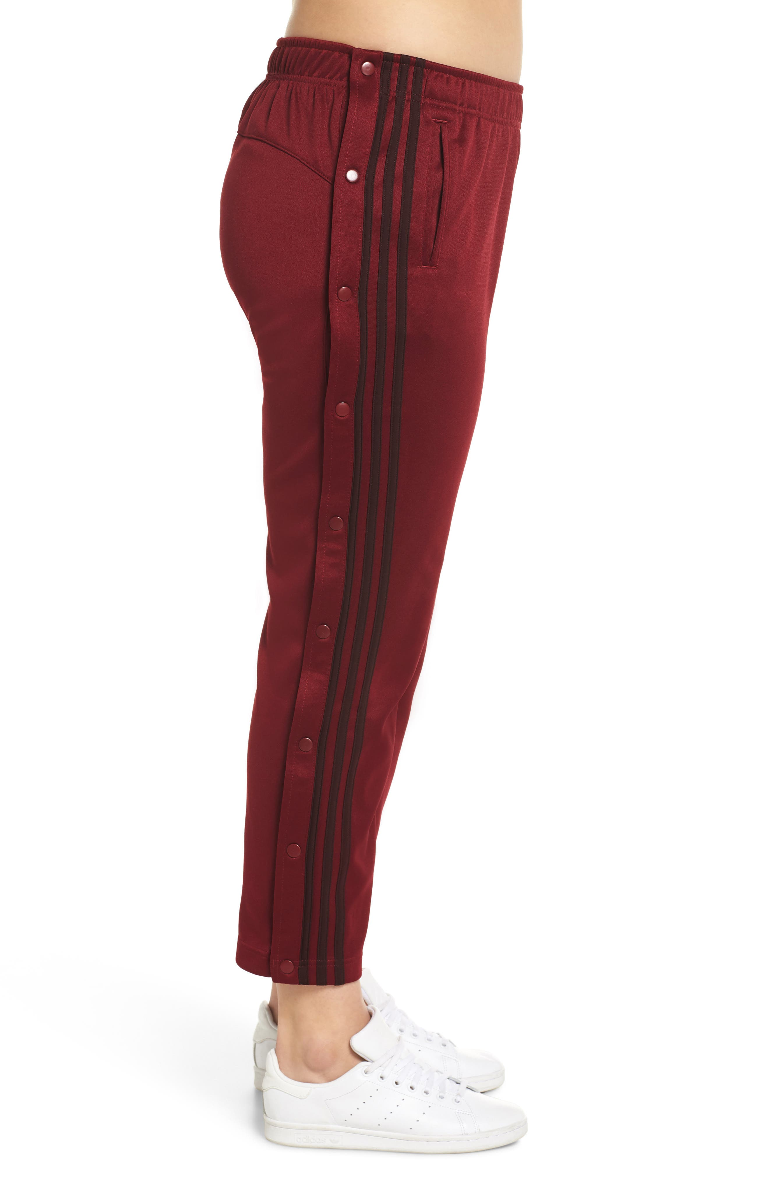 Tricot Snap Pants,                             Alternate thumbnail 9, color,                             NOBLE MAROON/ NIGHT RED