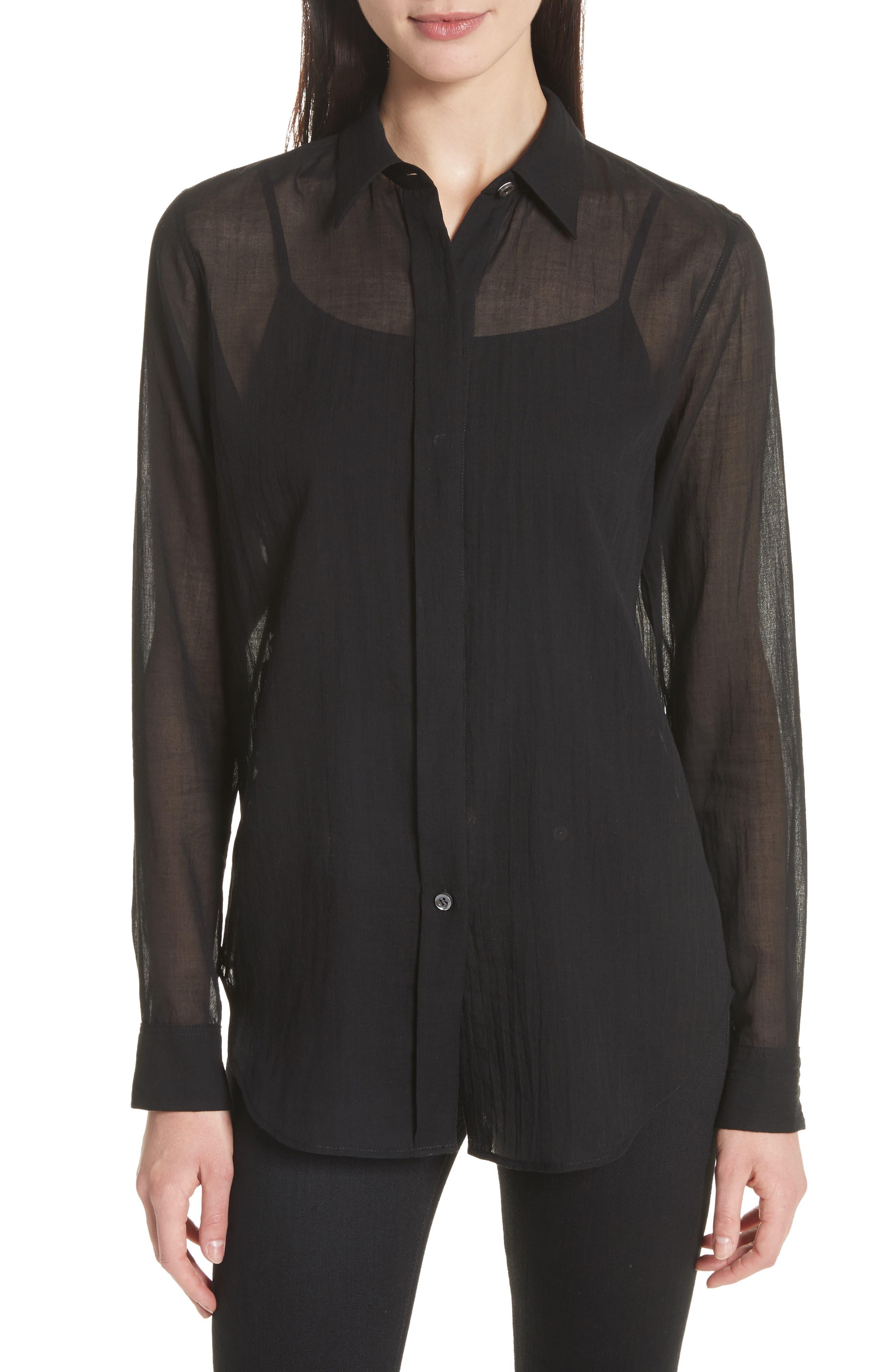 Essential Button-Down Cotton Shirt,                         Main,                         color,