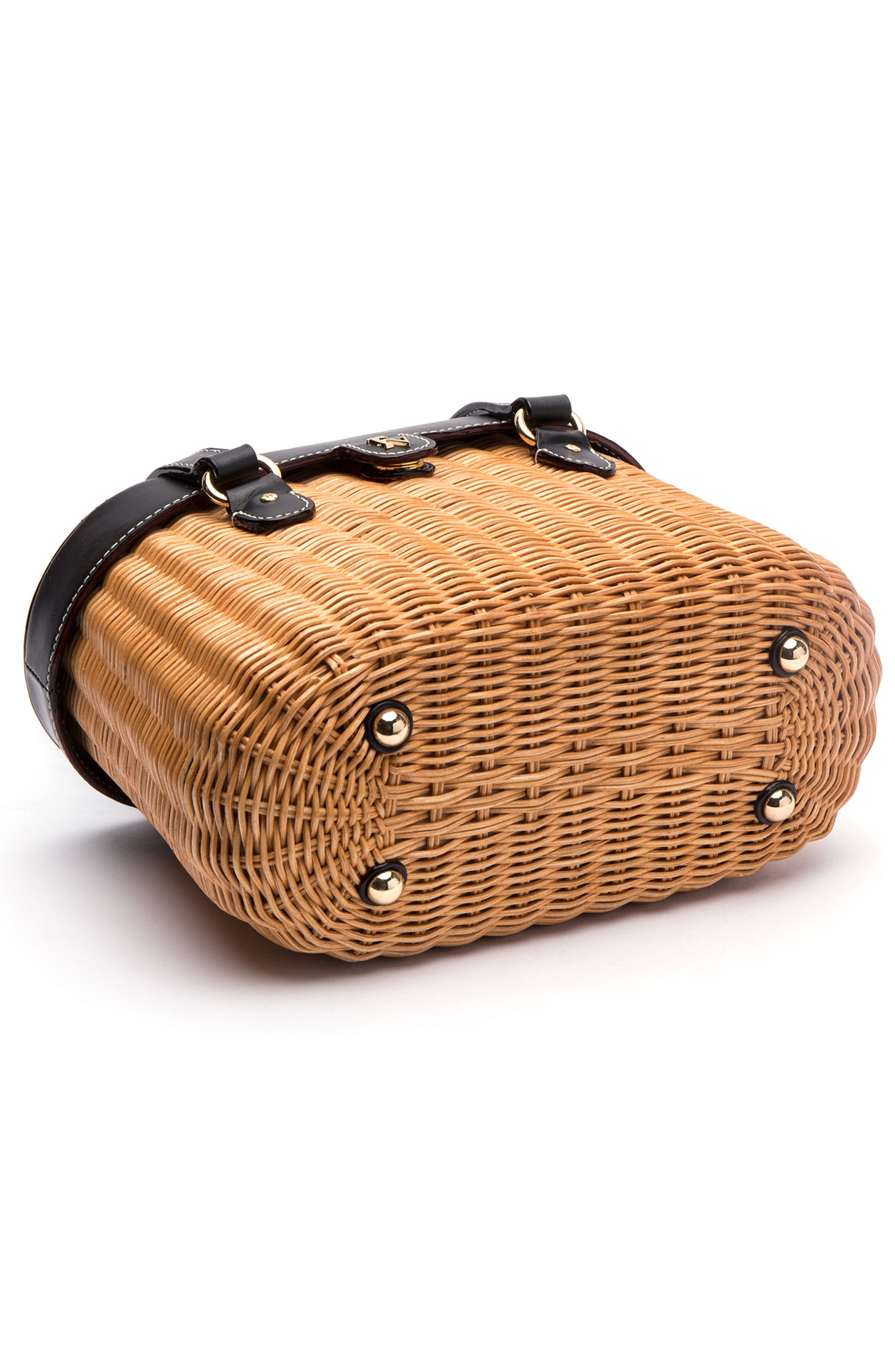 Wicker Basket Shoulder Bag,                             Alternate thumbnail 3, color,                             250