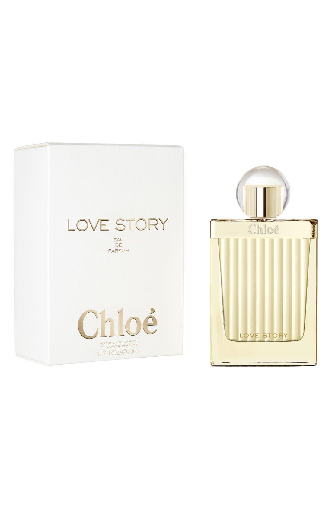 'Love Story' Shower Gel,                             Main thumbnail 1, color,