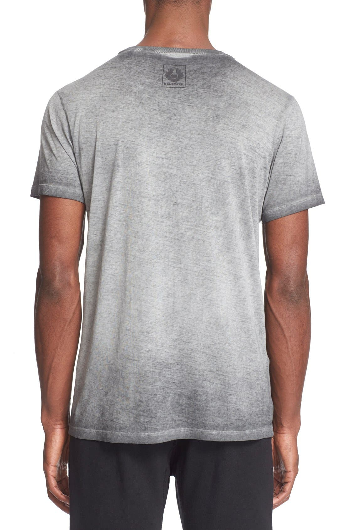 'Trafford' Cotton Crewneck T-Shirt,                             Alternate thumbnail 3, color,                             001