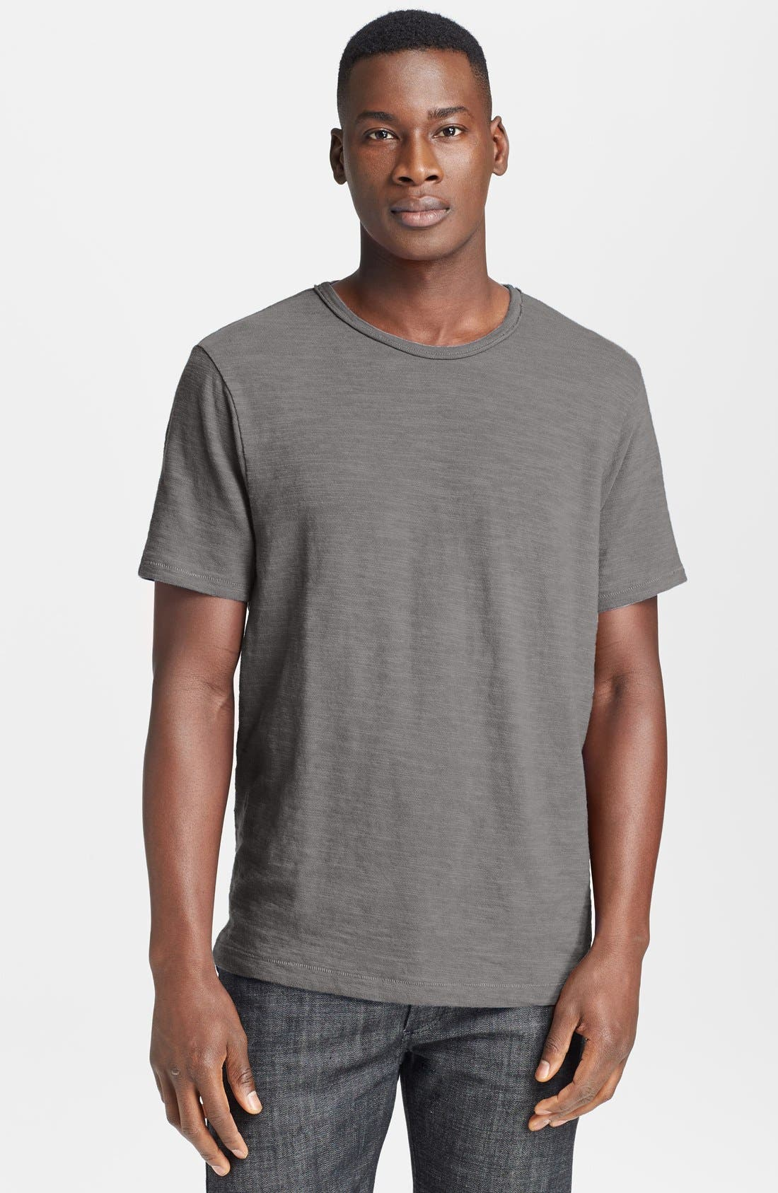 Standard Issue Slubbed Cotton T-Shirt,                         Main,                         color, CHARCOAL