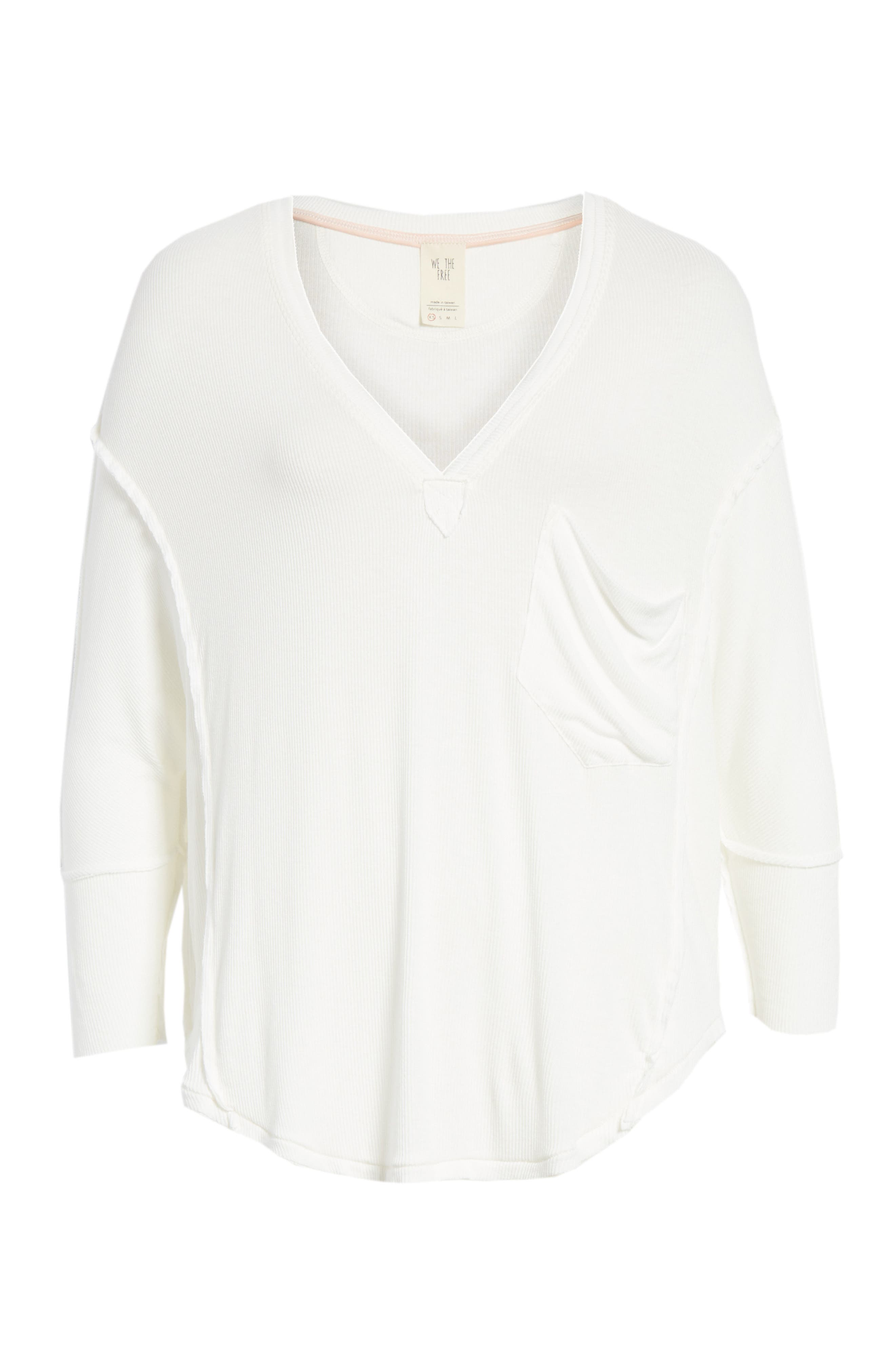 We the Free by Free People Golden Gate Tee,                             Alternate thumbnail 6, color,                             WHITE