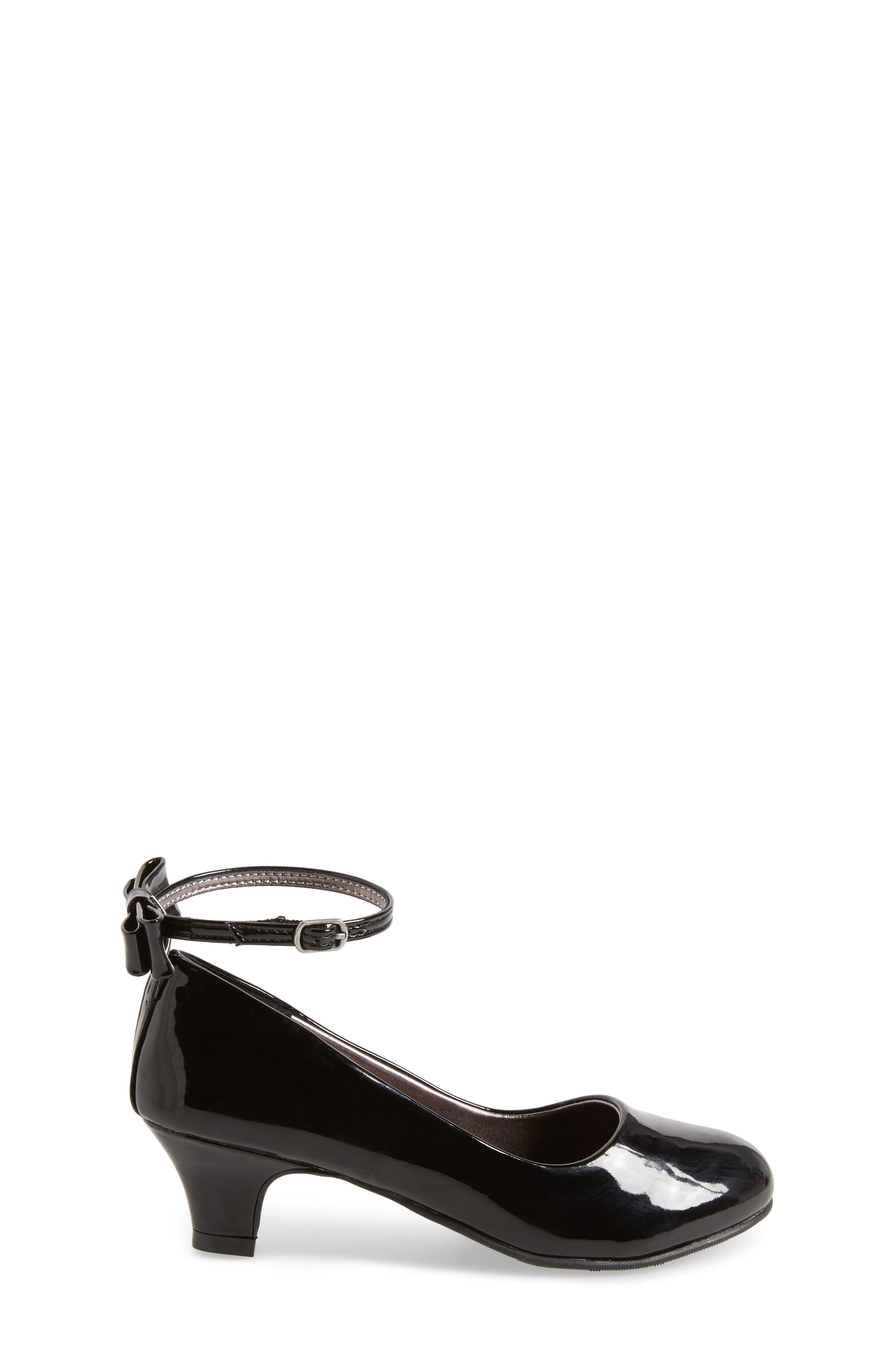 Jbeckyy Ankle Strap Bow Pump,                             Alternate thumbnail 3, color,                             017