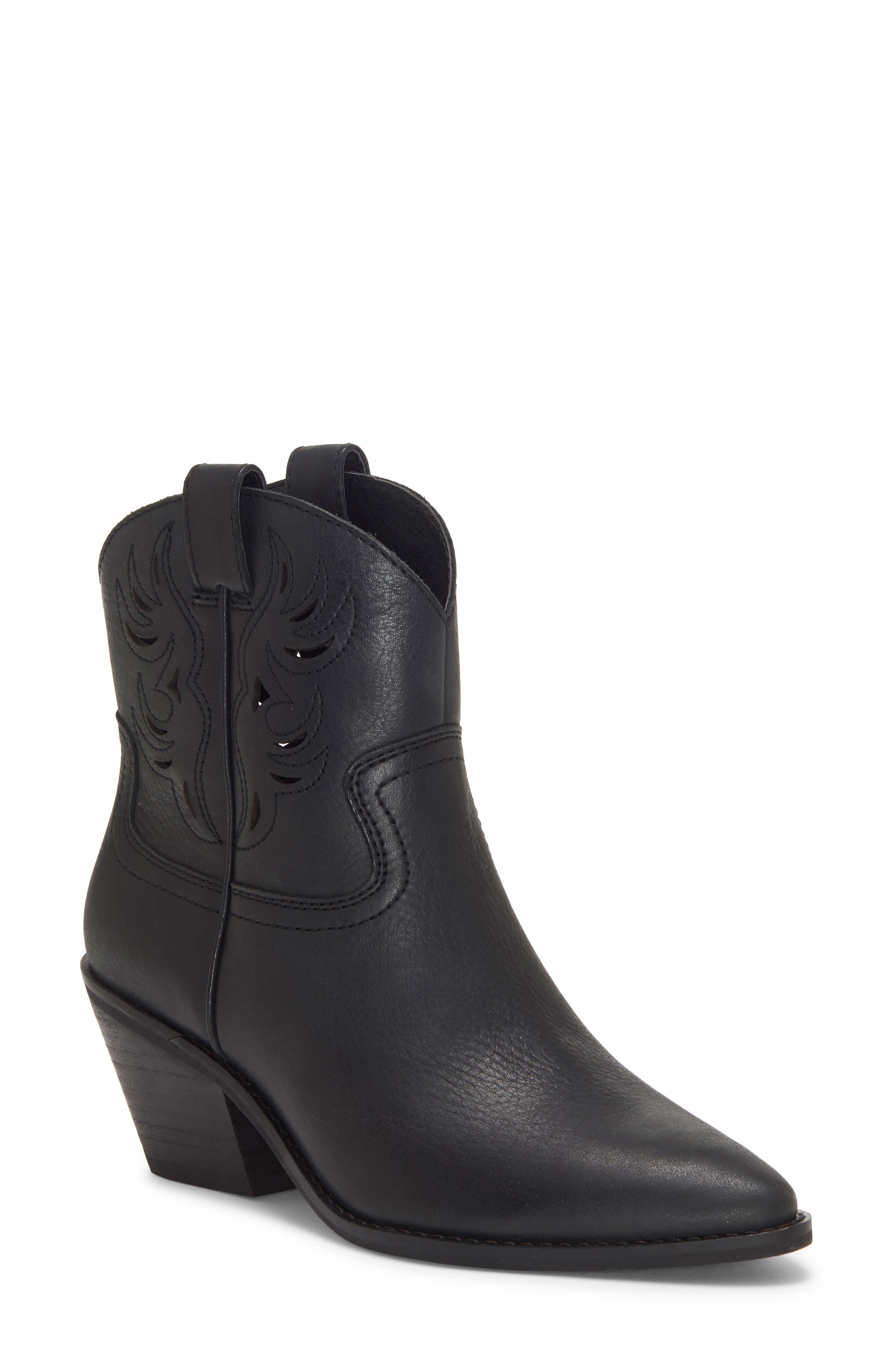 Lucky Brand Talouse Western Boot- Black