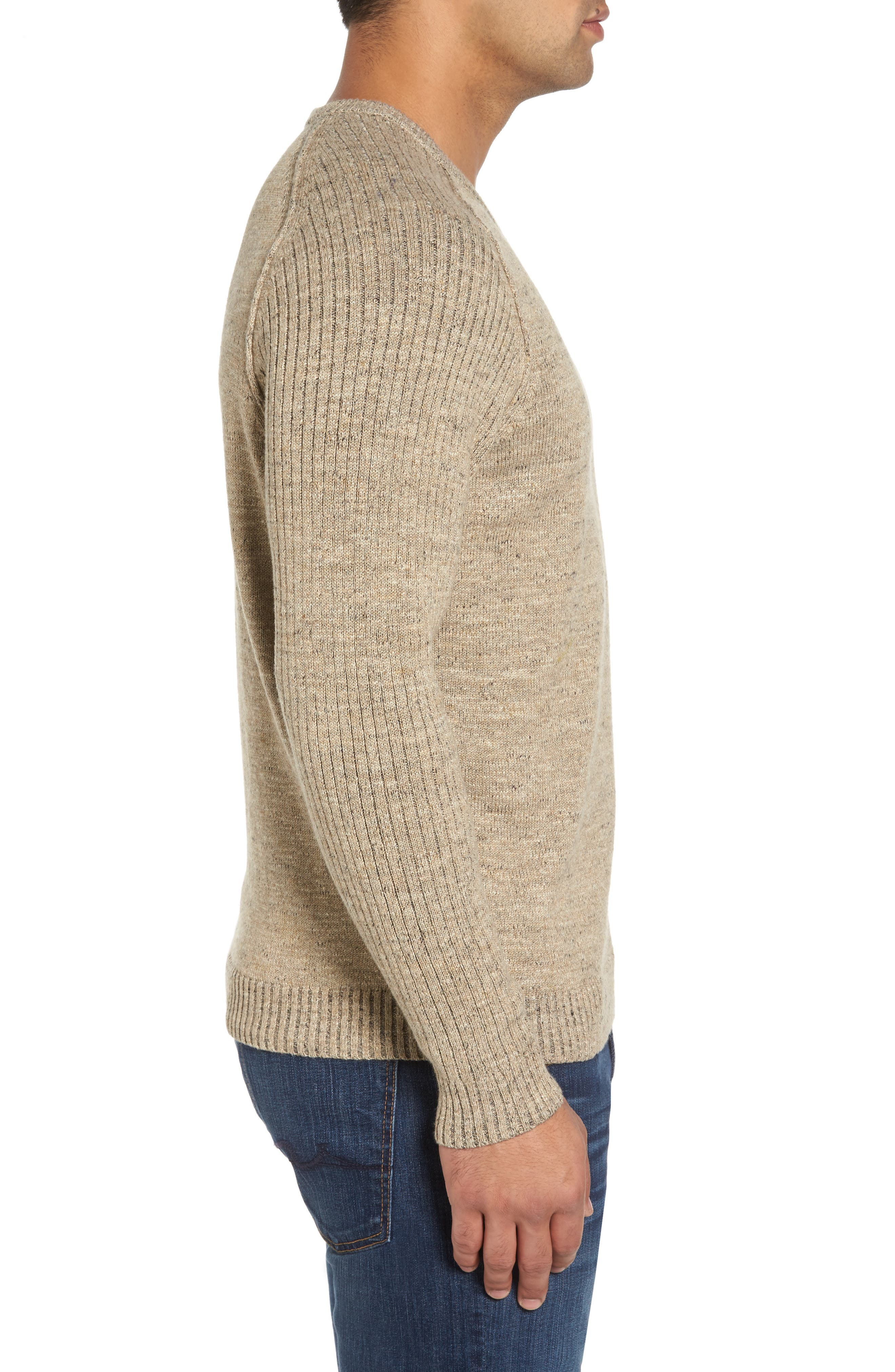 Gran Rey Flip Reversible Cotton & Wool Sweater,                             Alternate thumbnail 6, color,