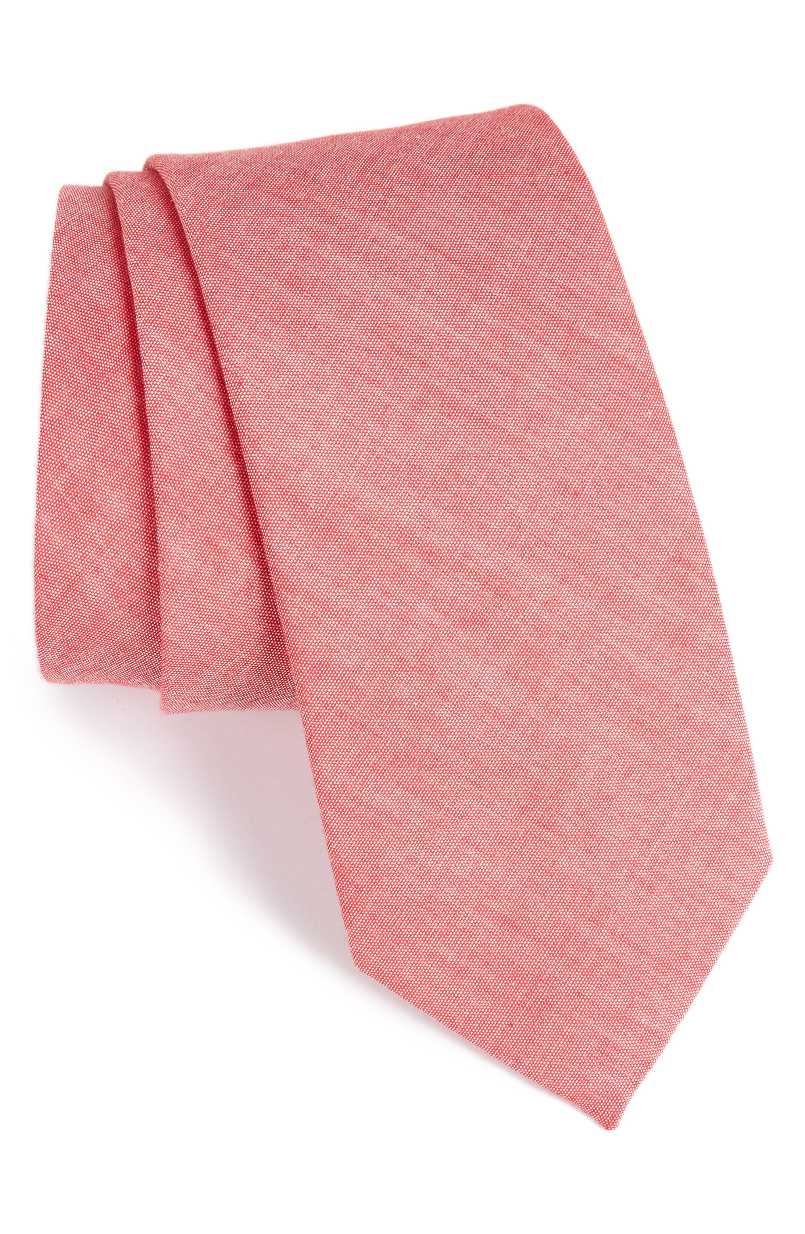 Classic Chambray Cotton Tie,                             Main thumbnail 3, color,