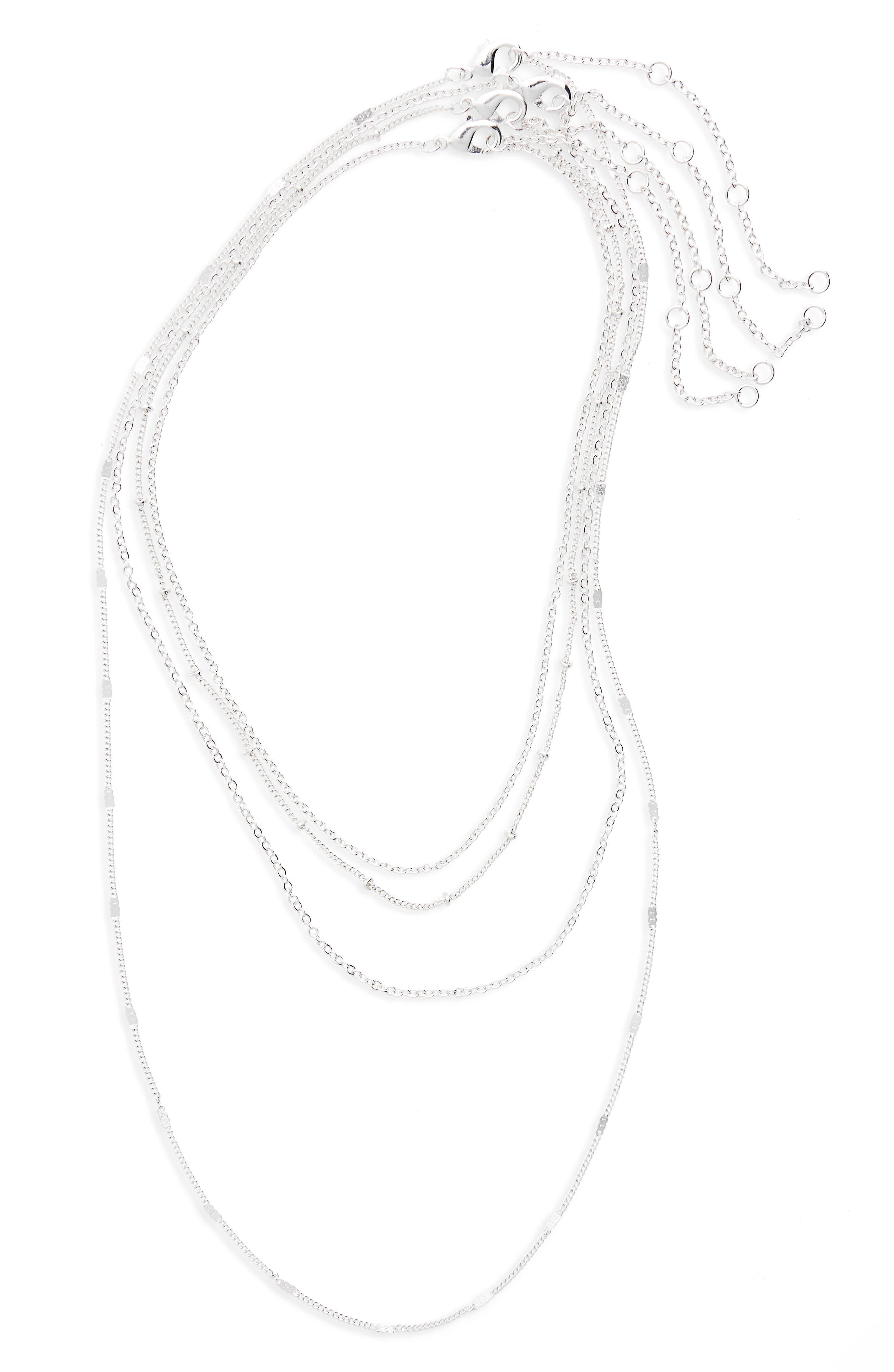 4-Pack Chain Necklaces,                             Main thumbnail 1, color,                             040