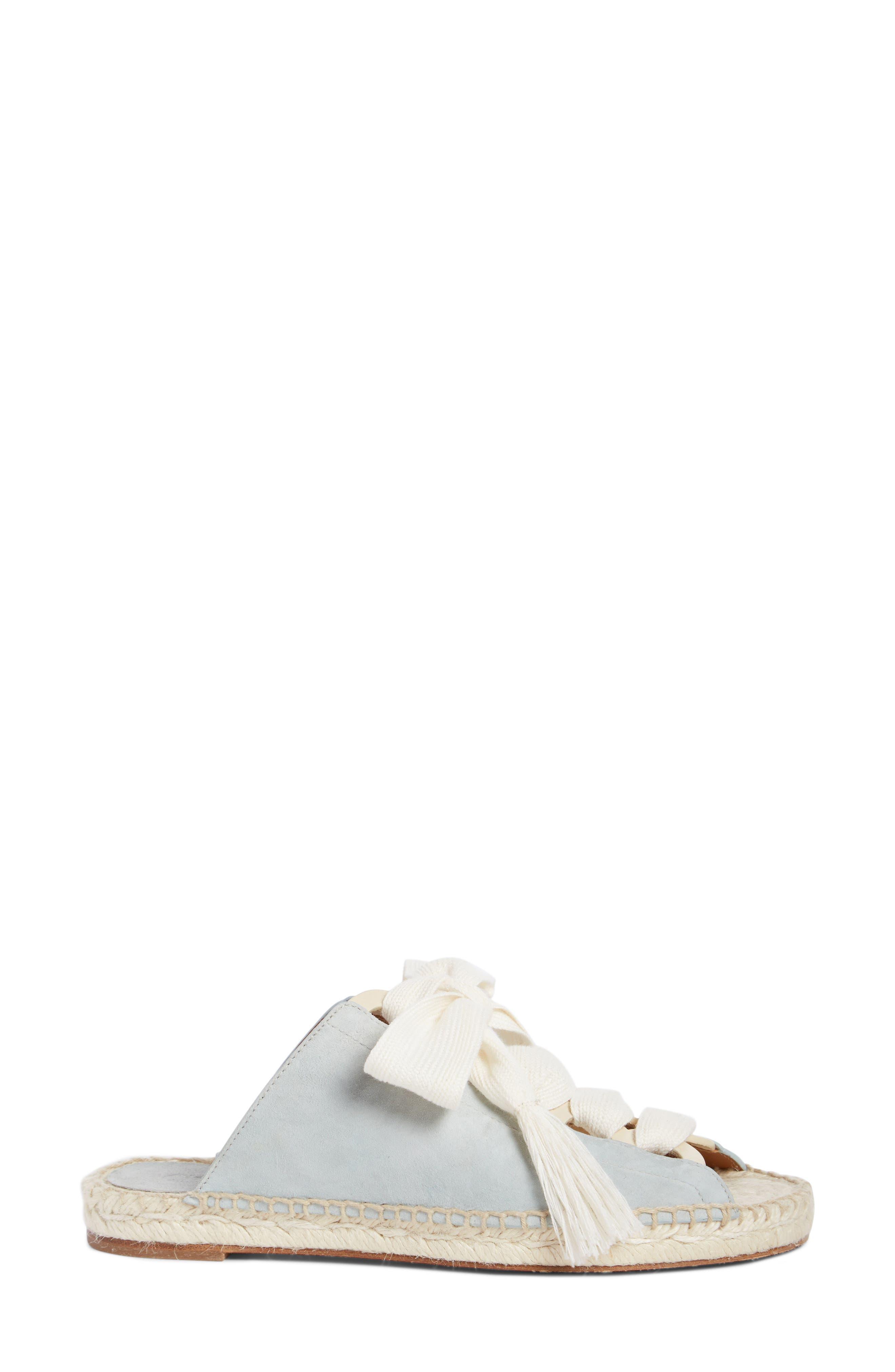 Harper Lace-Up Espadrille Slide Sandal,                             Alternate thumbnail 3, color,                             450