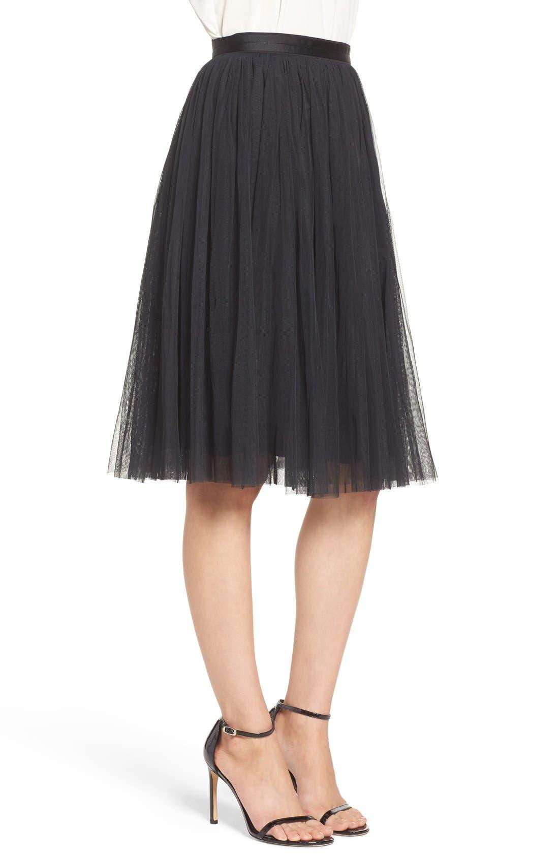 Tulle Skirt,                             Alternate thumbnail 6, color,                             001