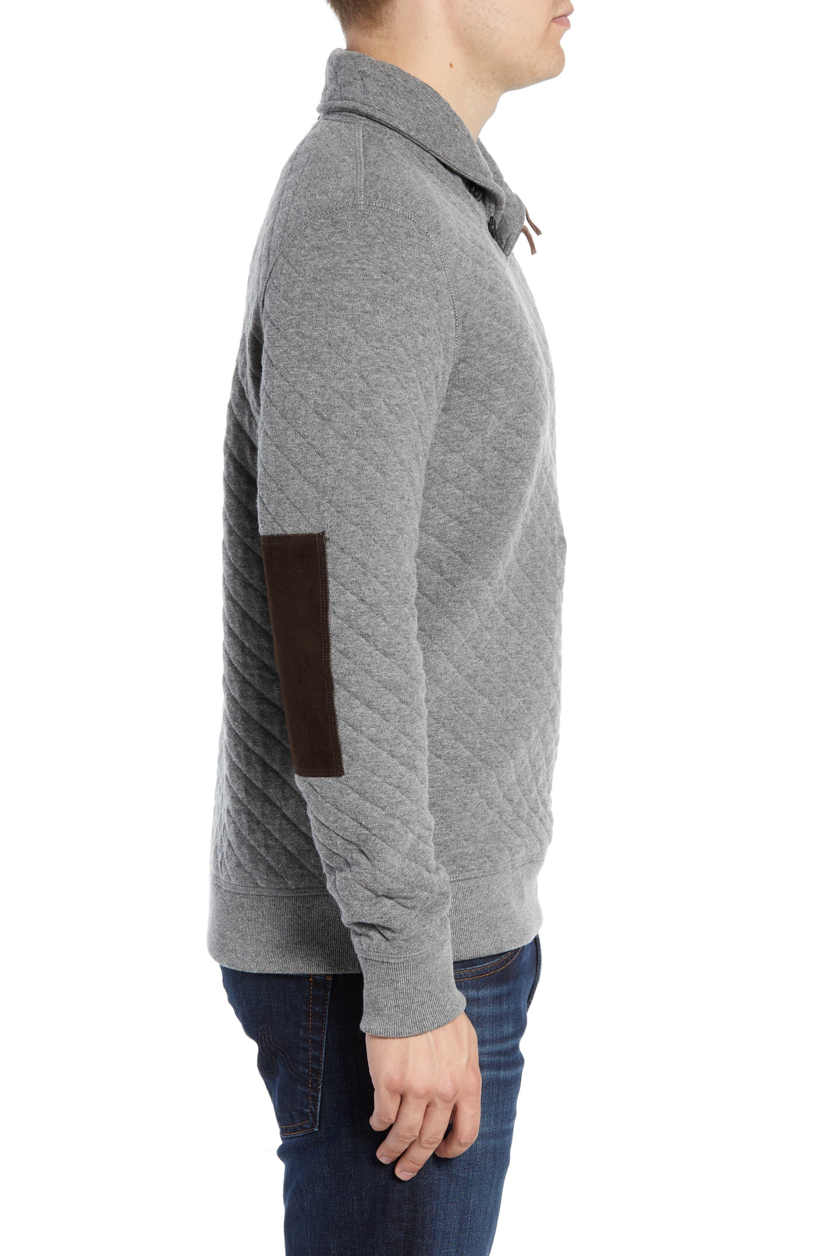 Shawl Collar Pullover,                             Alternate thumbnail 3, color,                             MEDIUM GREY